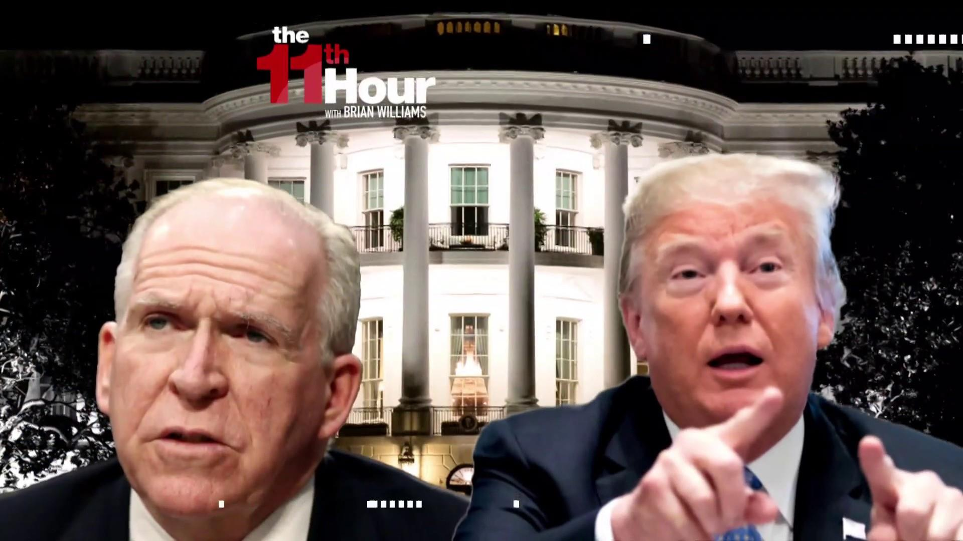 John Brennan: Donald Trump is 'drunk on power'