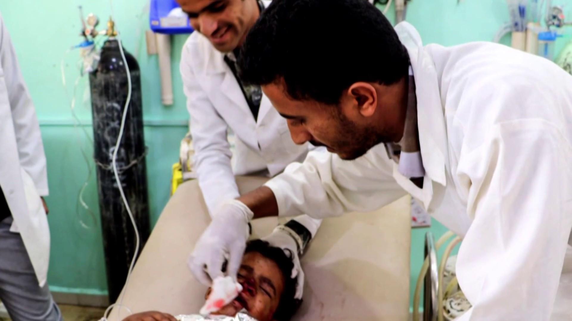 Dozens of children killed in school bus bombing in Yemen
