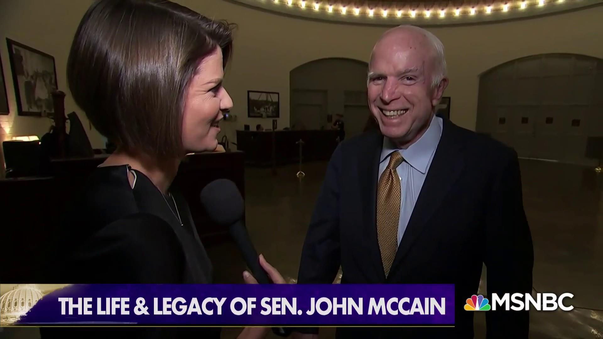 Kasie Hunt: Congress will not be the same without Sen. McCain
