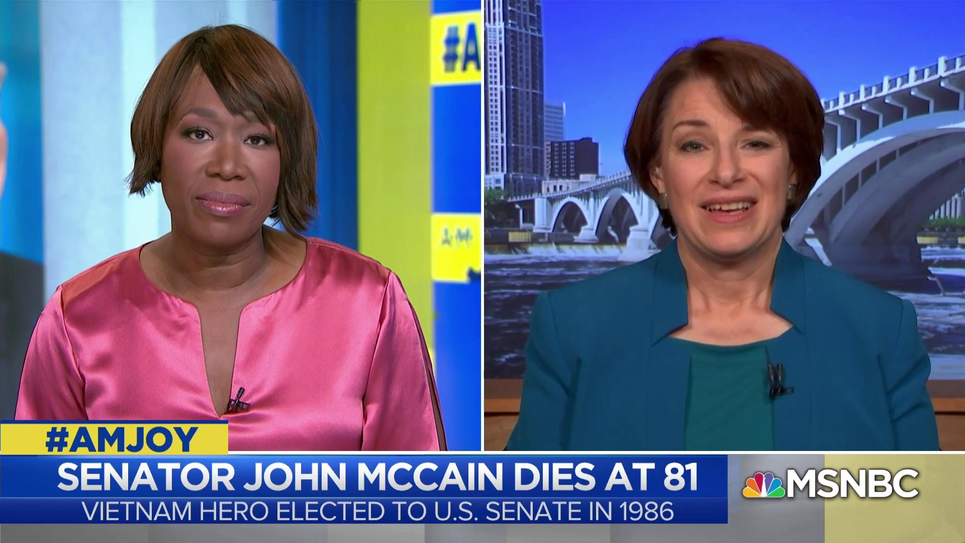 Sen. Klobuchar: McCain will be missed in Senate as check on executive power
