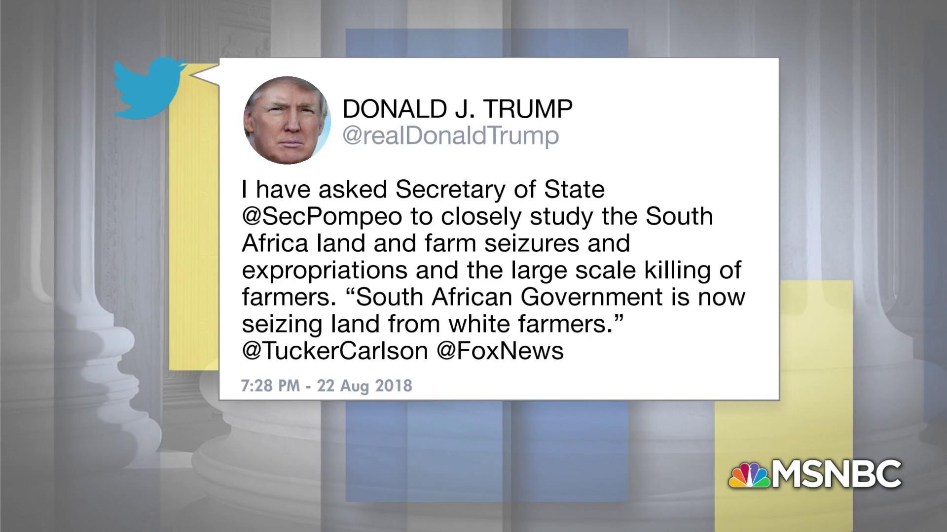 Tim Wise: Trump tweet about South Africa directed at white Americans