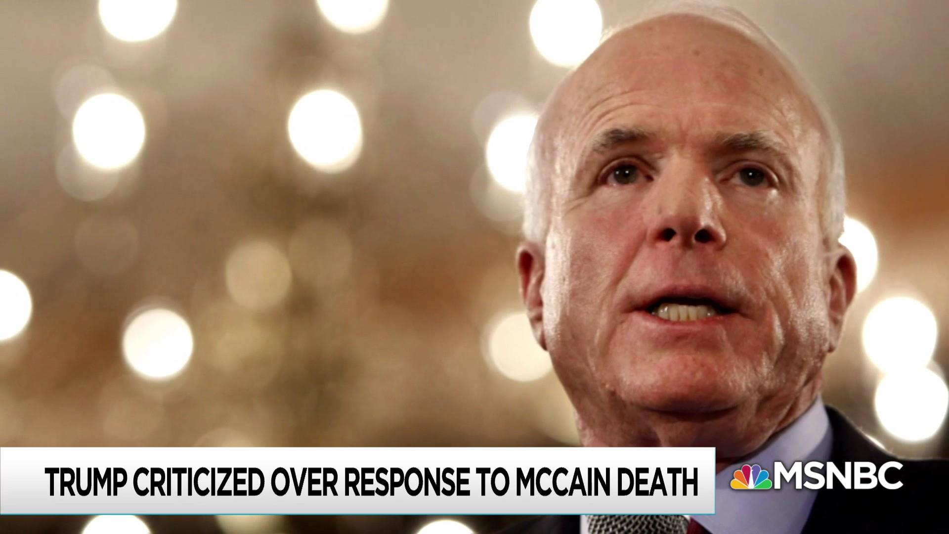 Trump White House fails at simple decency in McCain response