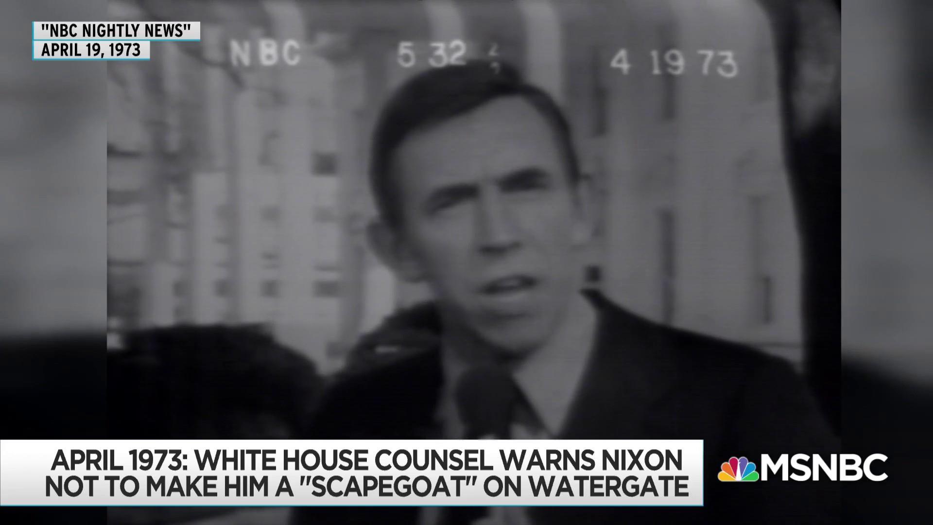 John Dean, key Watergate figure, gains new relevance in Trump era