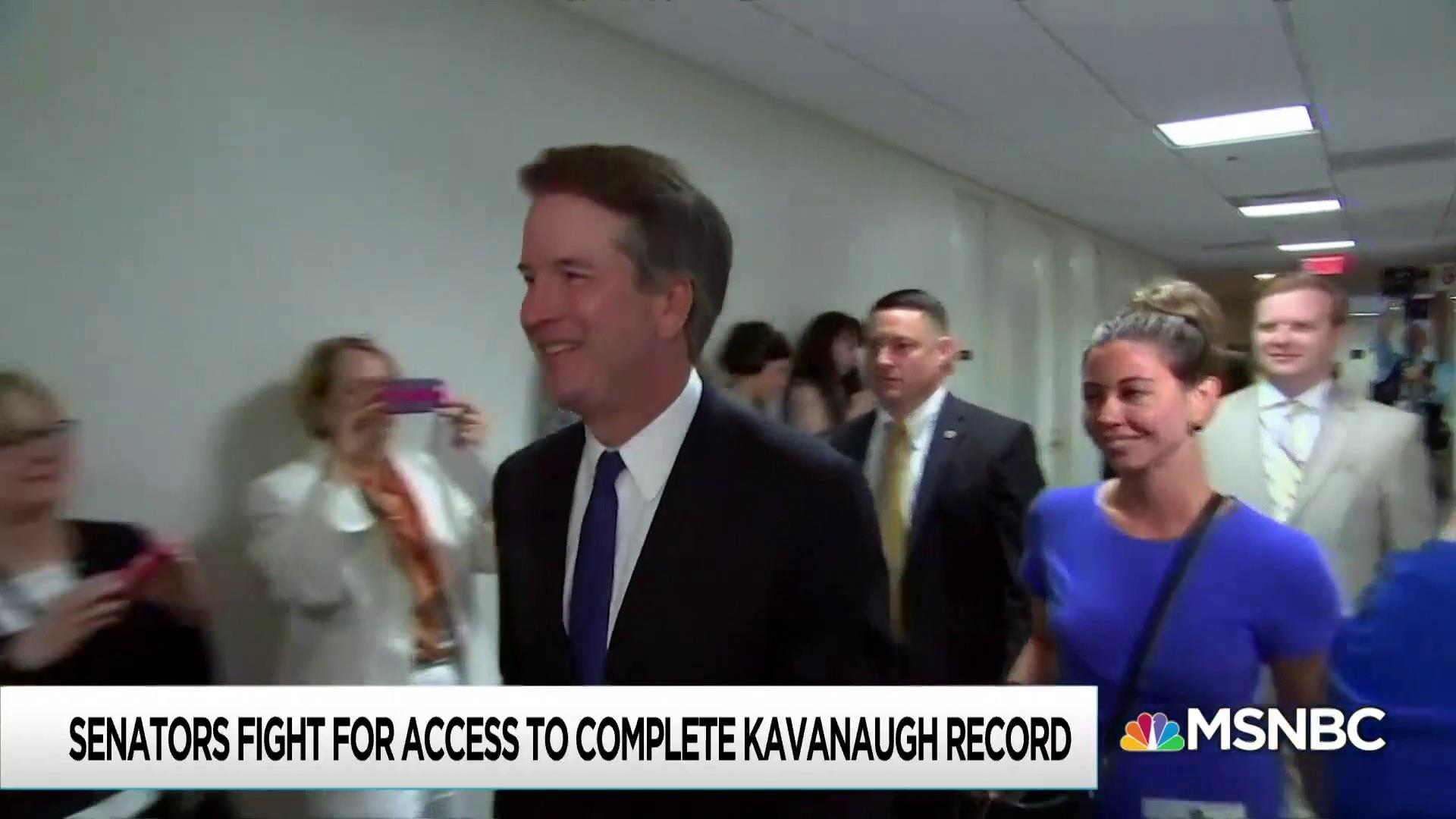 Senate Democrats say documents show Kavanaugh lied under oath