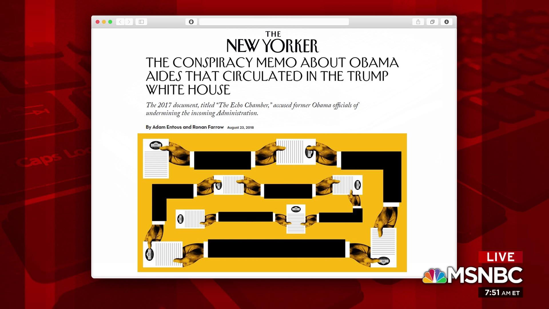 What a Trump WH memo said about Obama aides