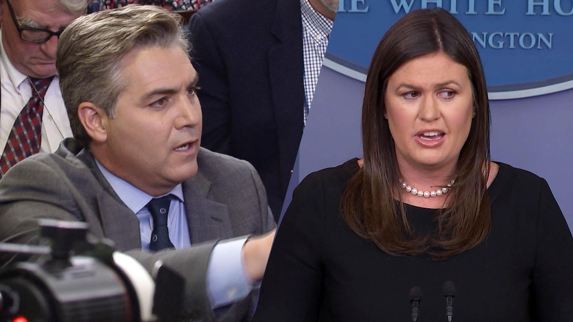 Sarah Sanders refuses to say the press is not 'enemy of the people'