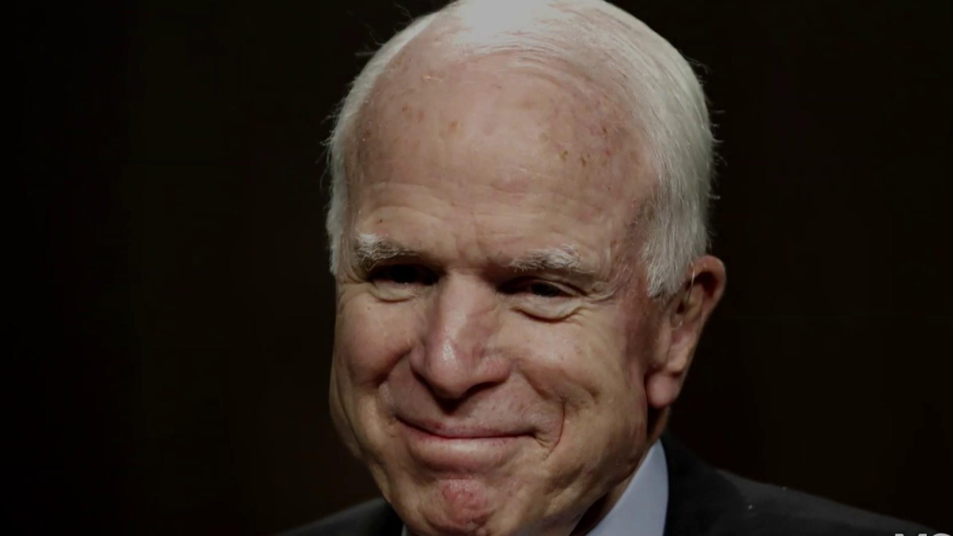 Sen. John McCain returns to Washington one last time