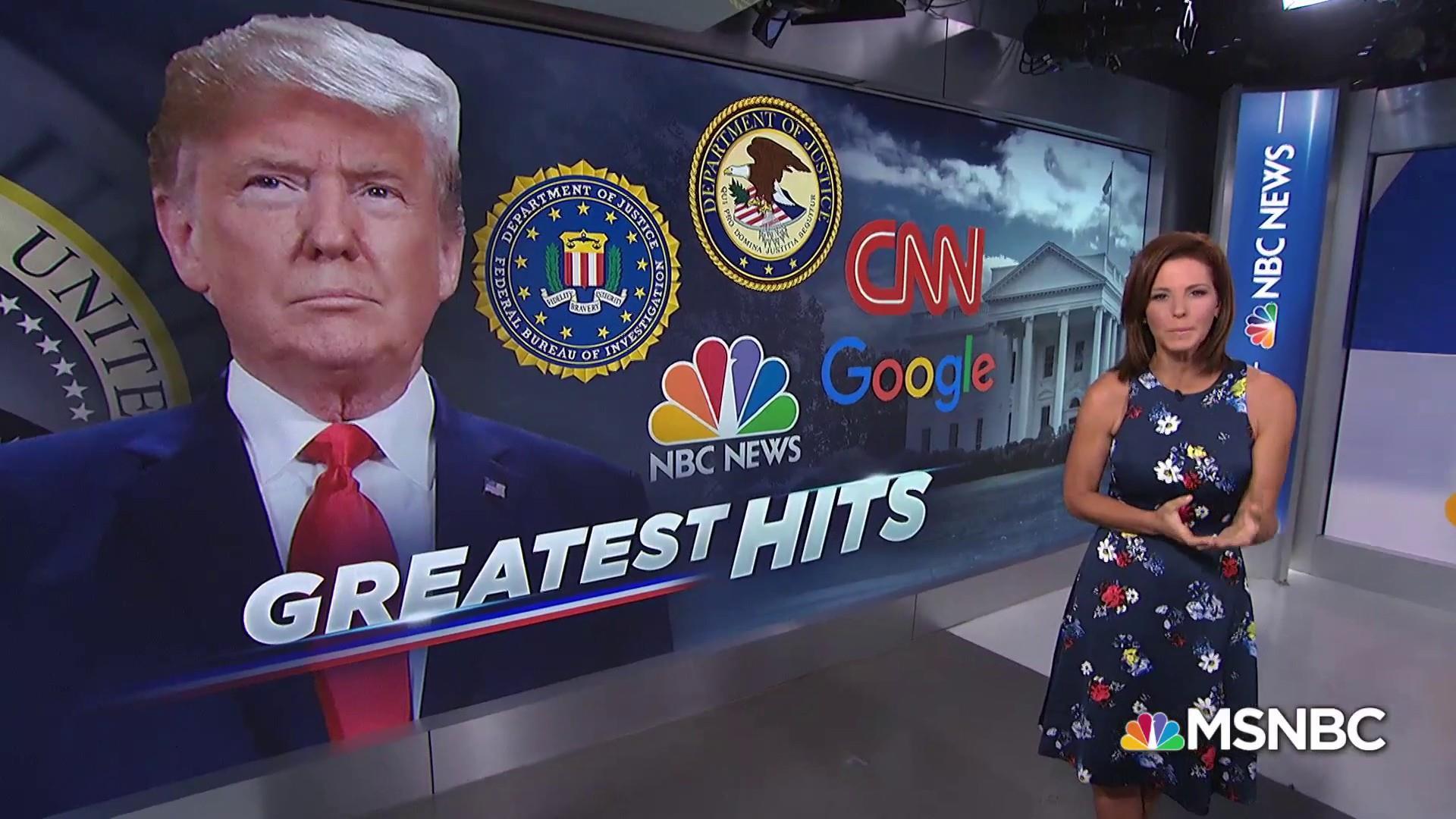 President Trump takes aim at DOJ, FBI, media, big tech at rally