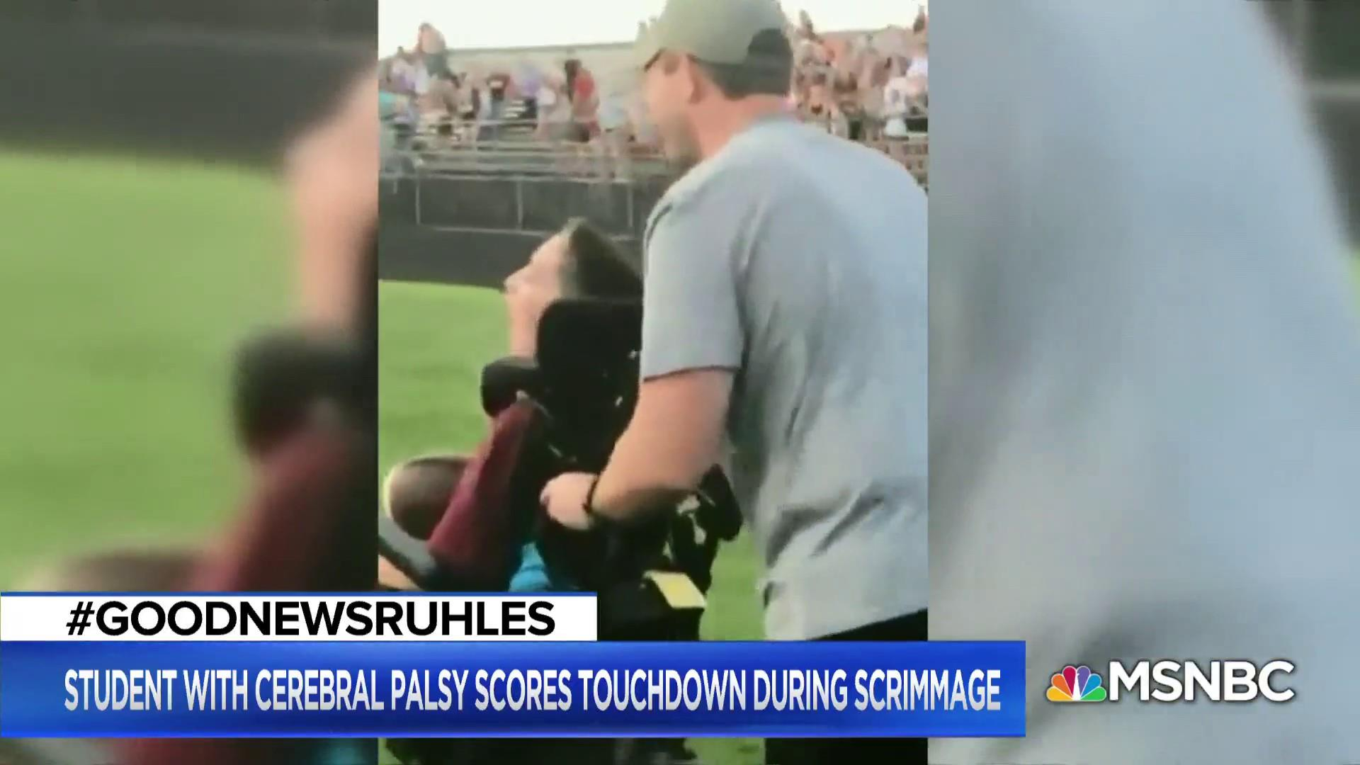 #GoodNewsRUHLES: Boy with cerebral palsy scores touchdown
