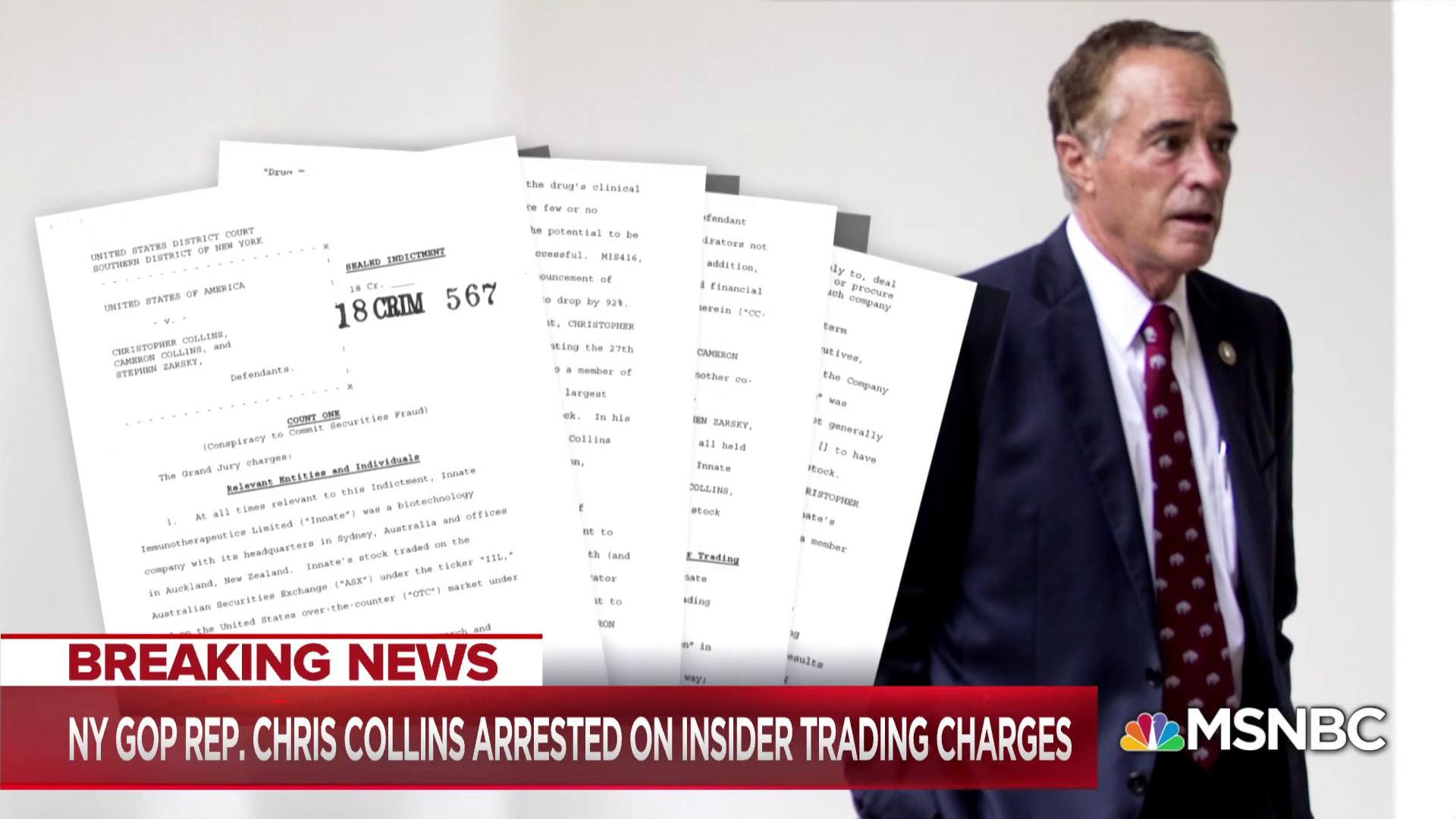 The Big Question: What does the arrest of Congressman Collins mean for the midterms?