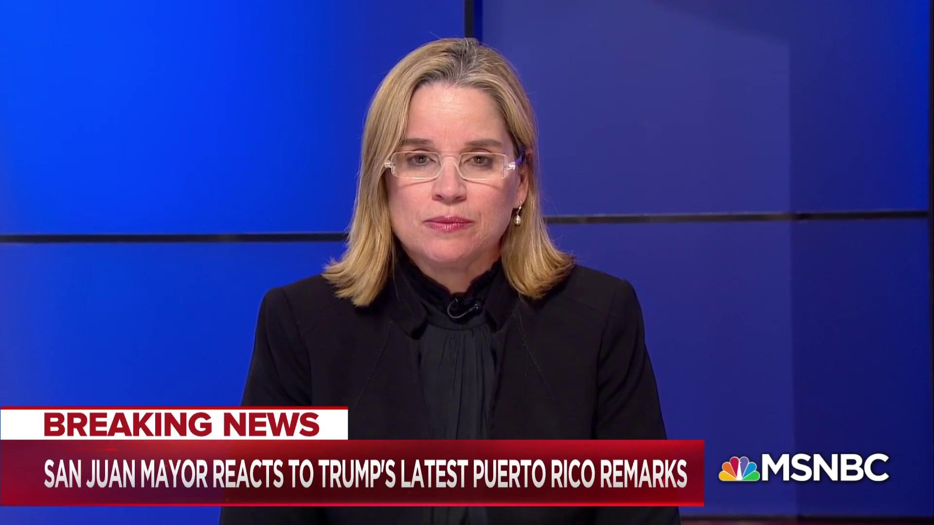 Puerto Rico Mayor: Trump's response is 'undignified'