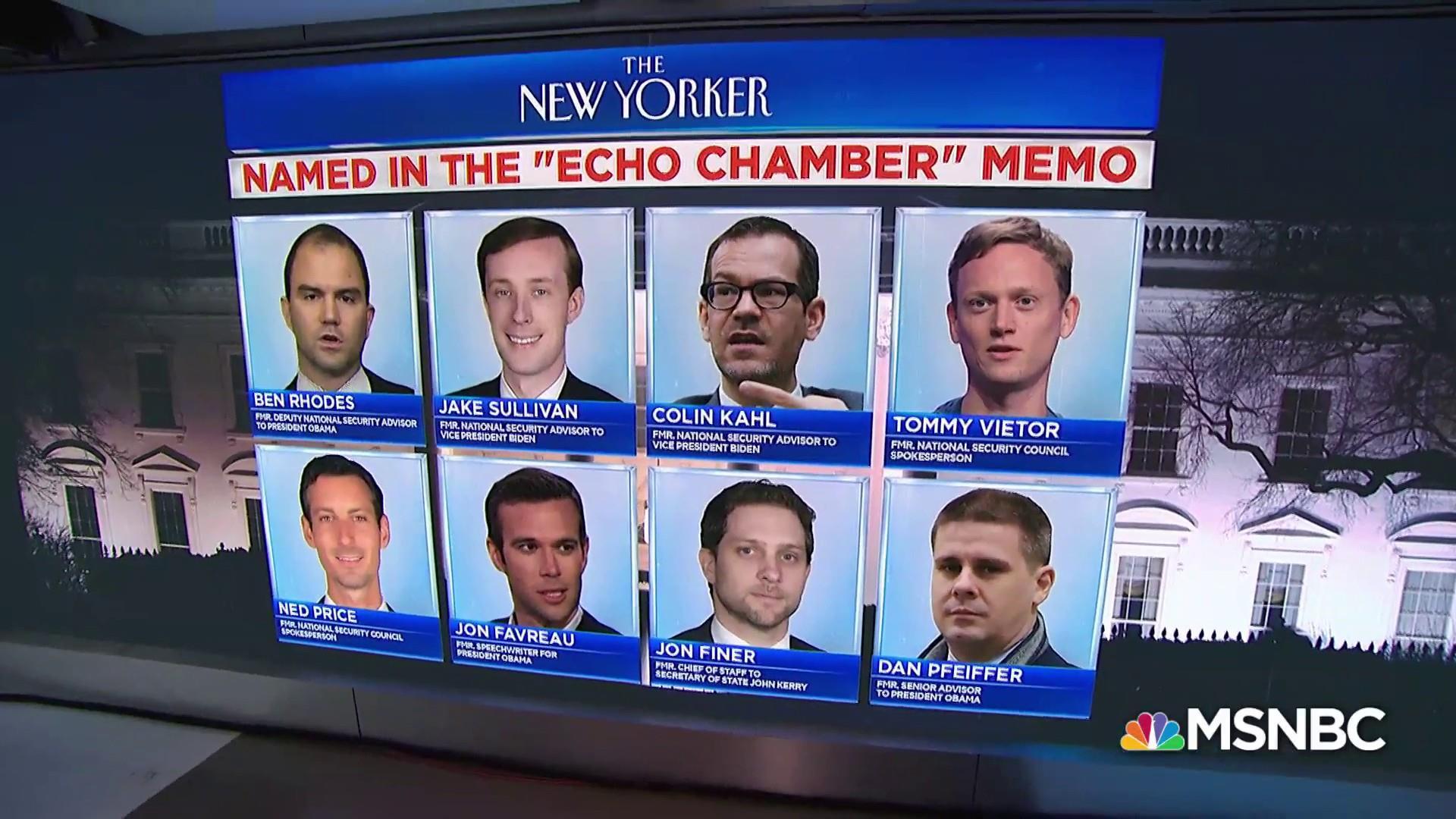 Ben Rhodes responds to  'The Echo Chamber' memo