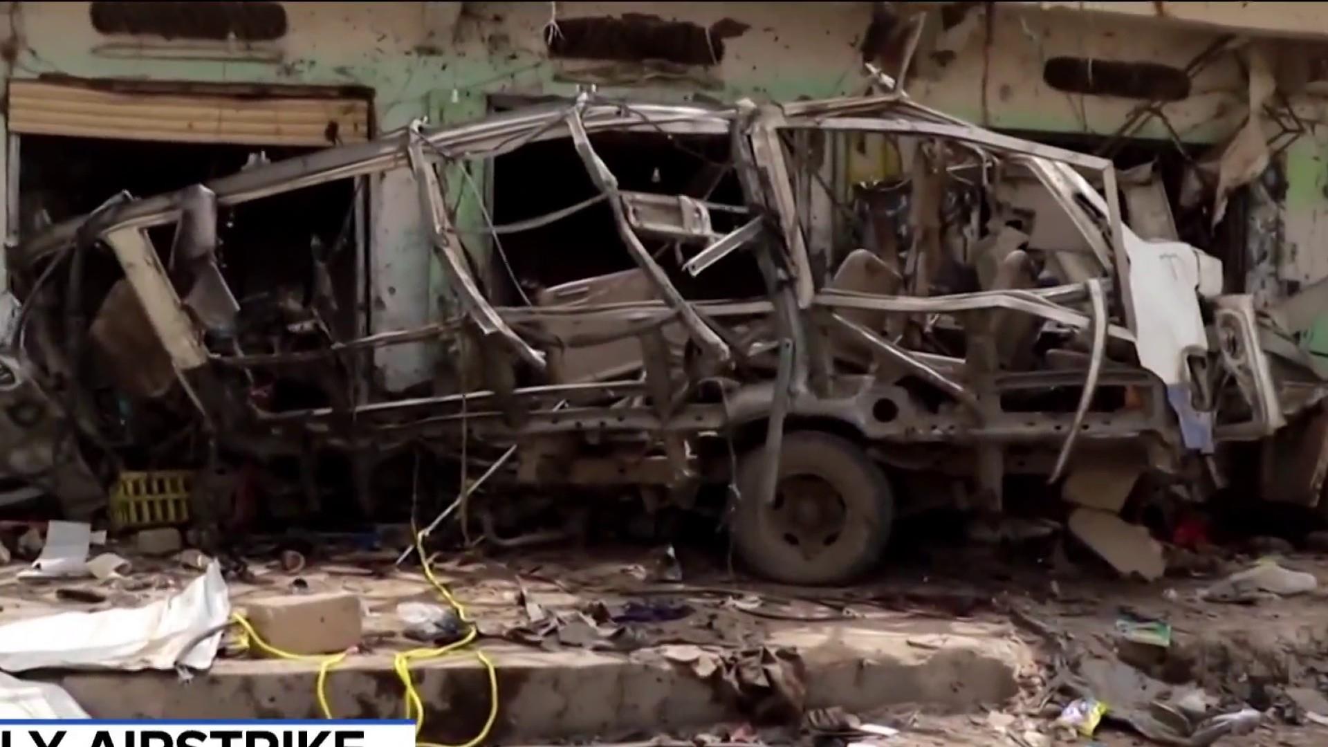 An airstrike in Yemen struck a school bus, killing children