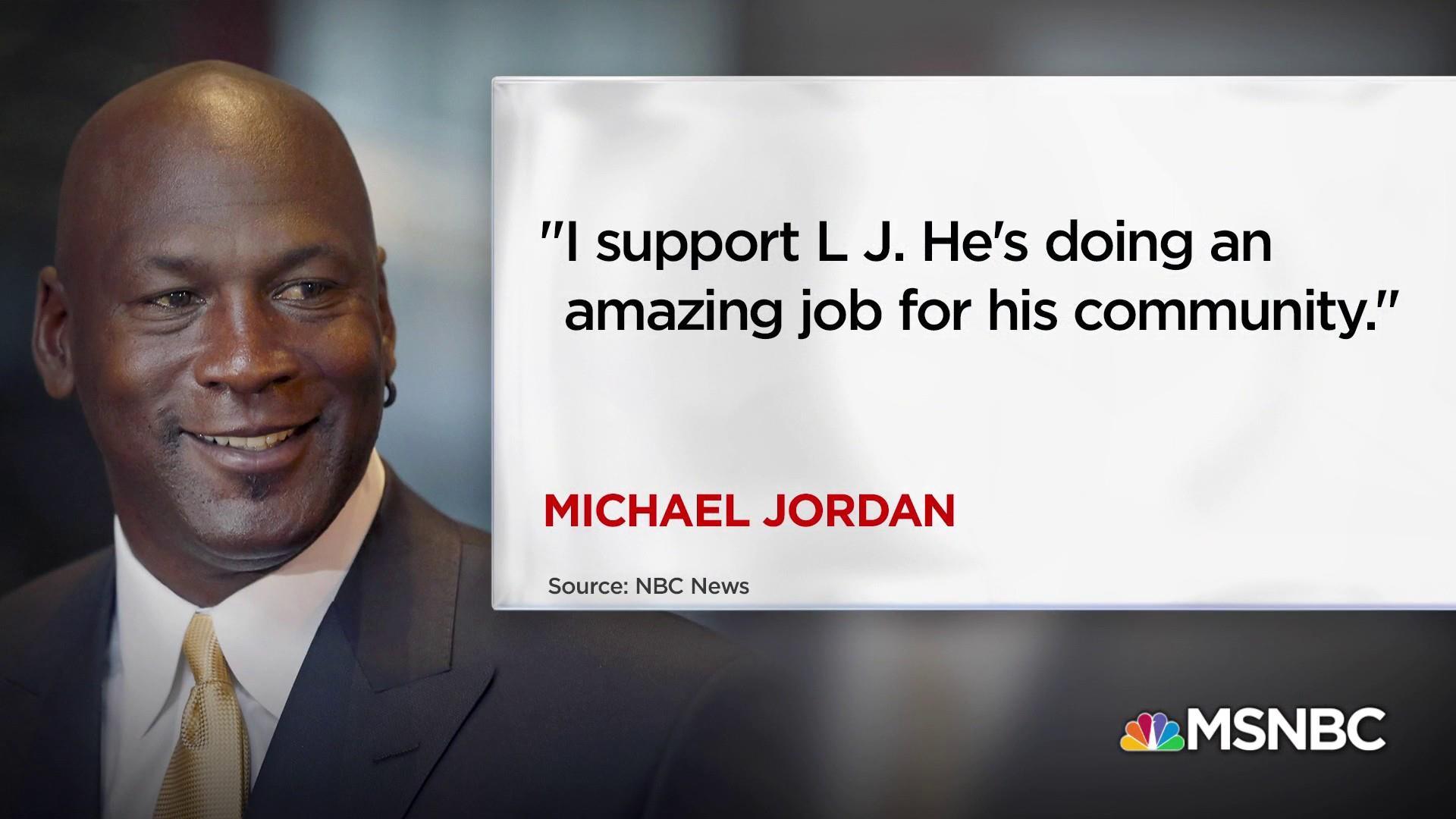 Michael Jordan responds to Trump Lebron James tweet