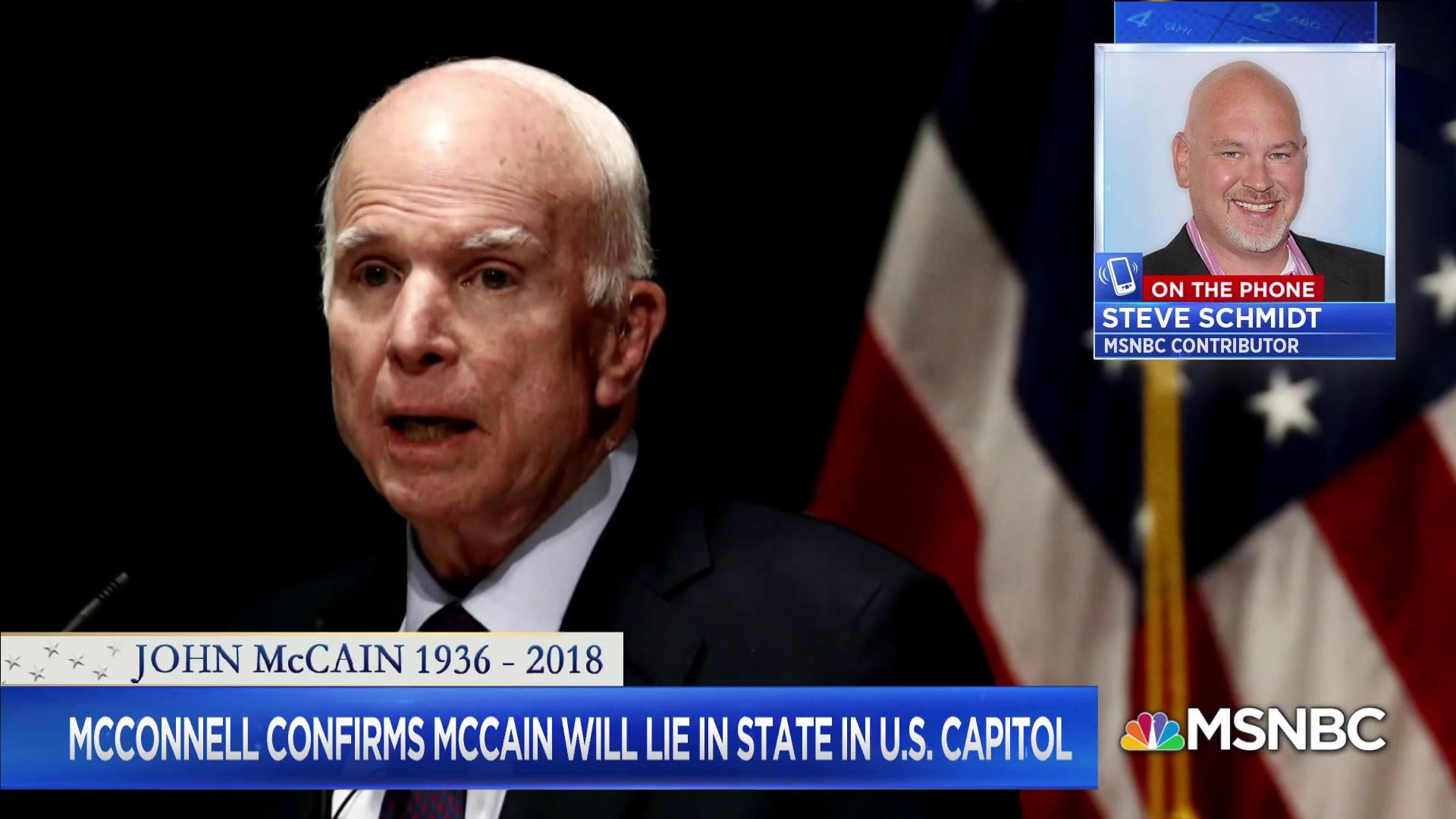 Schmidt on McCain: We lost someone profoundly special