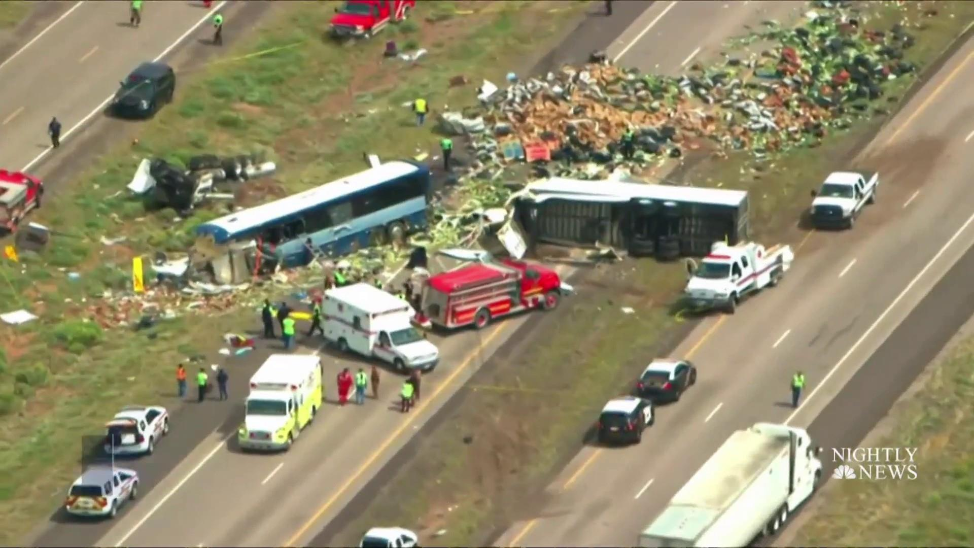 At least eight killed in bus-semi crash on New Mexico interstate