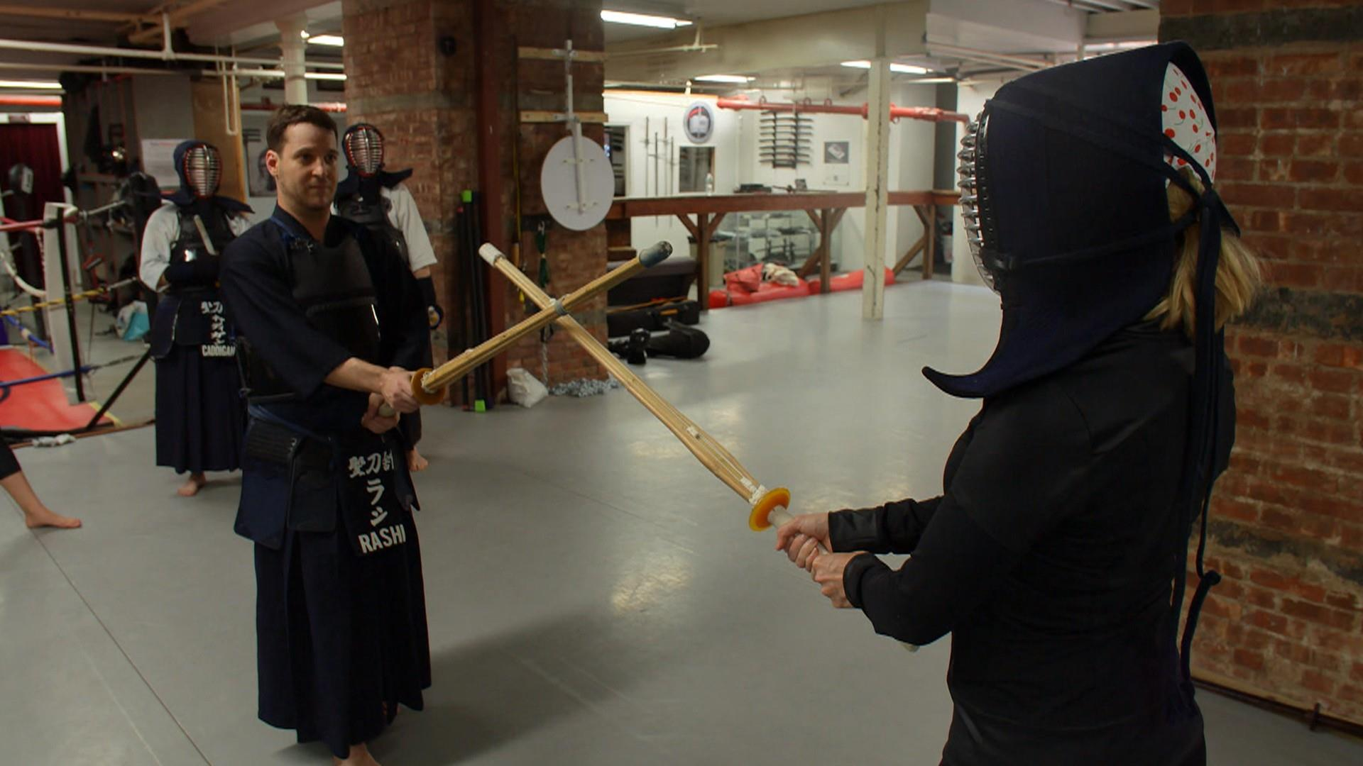 Sword fighting as a workout?! Megyn Kelly gives it a try