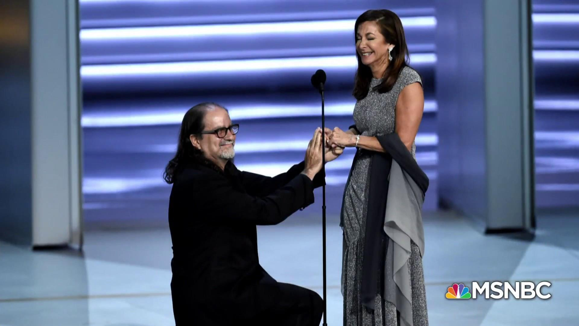 #BIGPICTURE: Glenn Weiss wins best Emmy moment with live proposal
