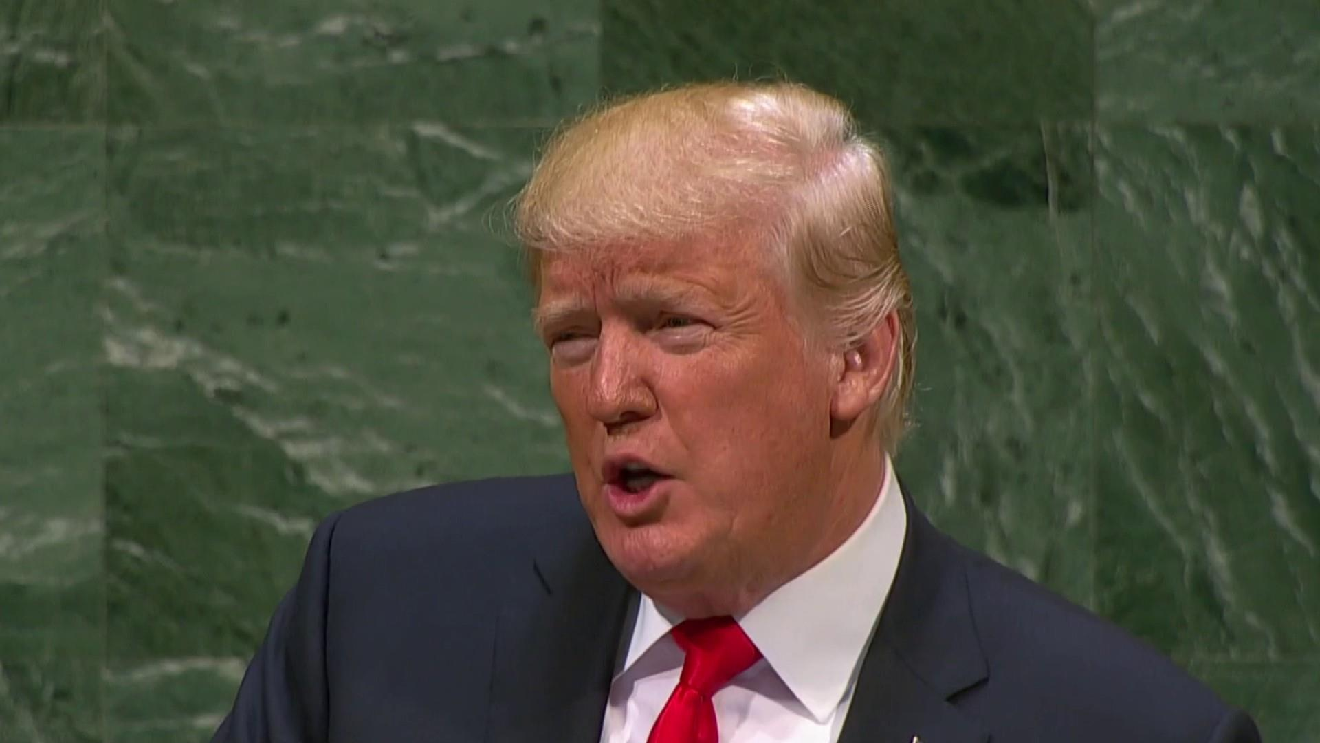 Trump bashes Iran in UN speech