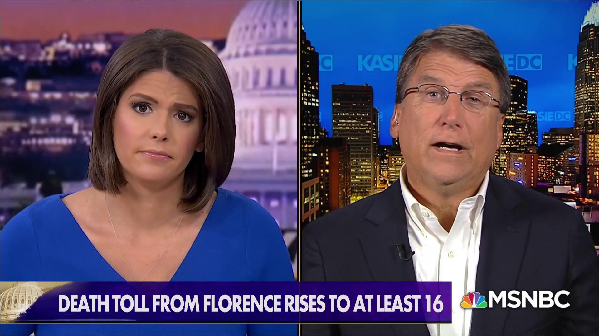 Former NC Gov. McCrory: Florence recovery 'very difficult, long, drawn-out period'