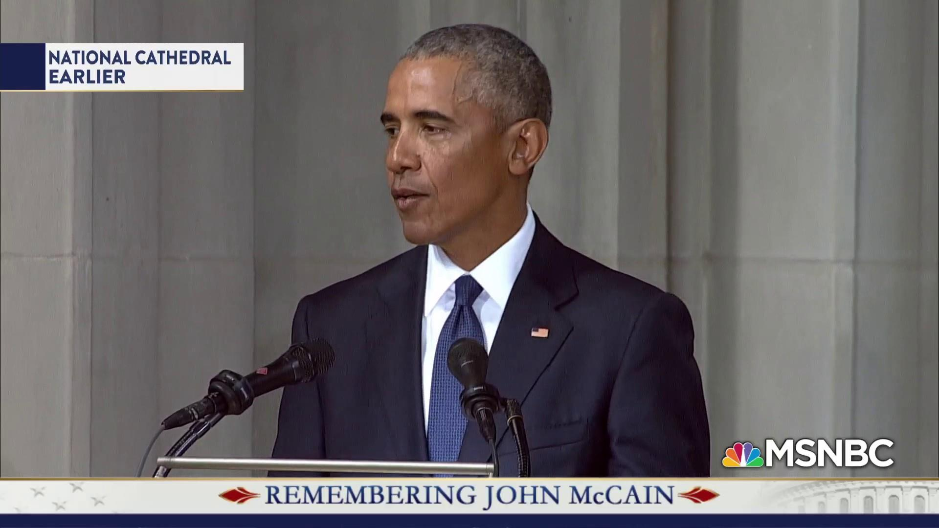 Obama on McCain: When all was said and done, we were on same team