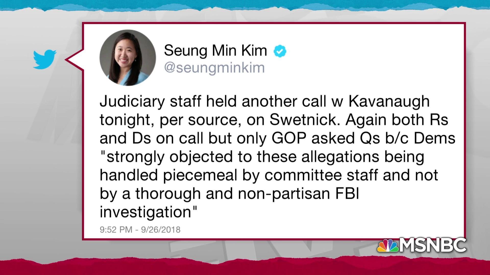 GOP still avoiding FBI help, makes late calls to Kavanaugh