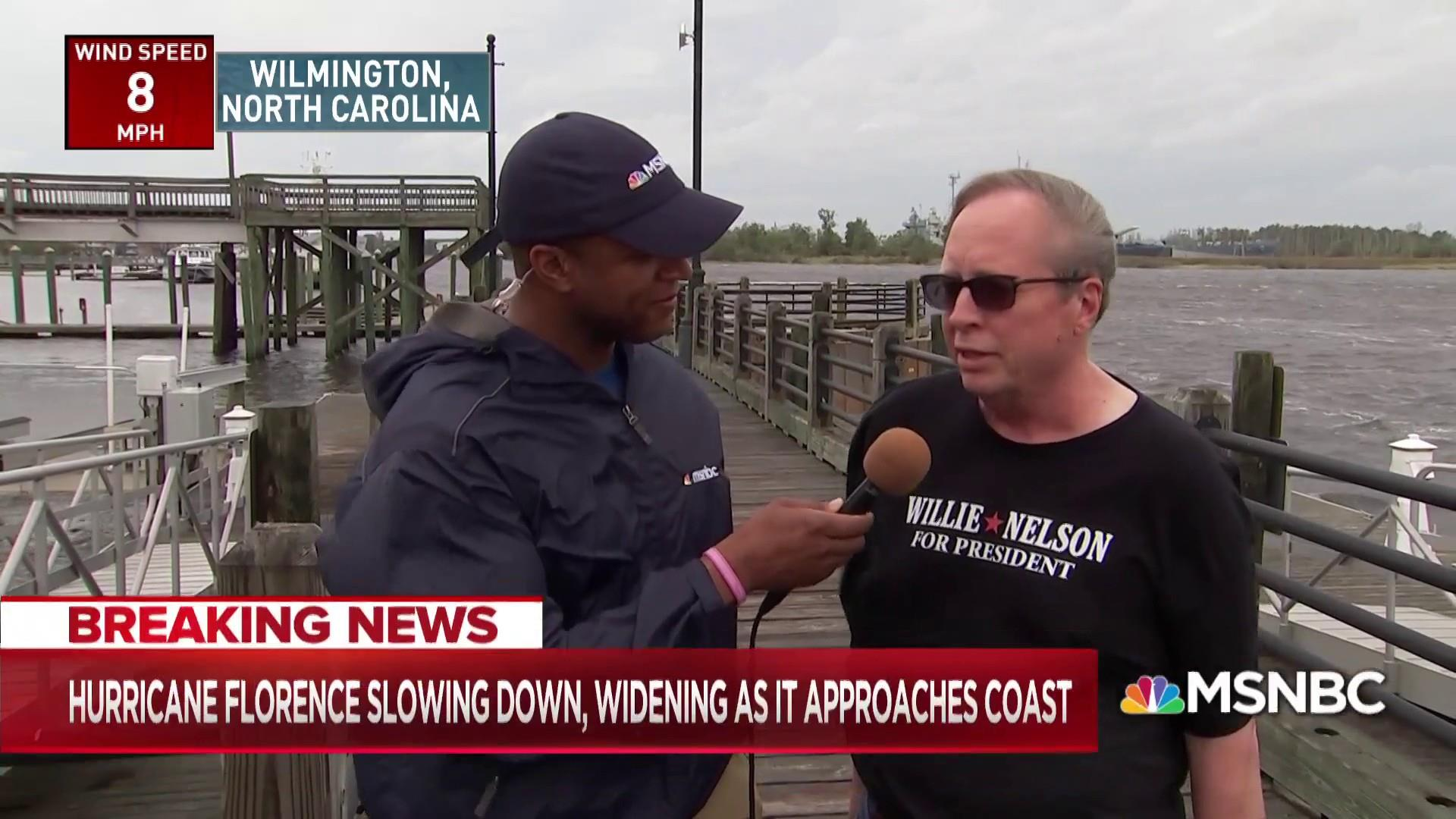 Small business owner plans to ride out Hurricane Florence