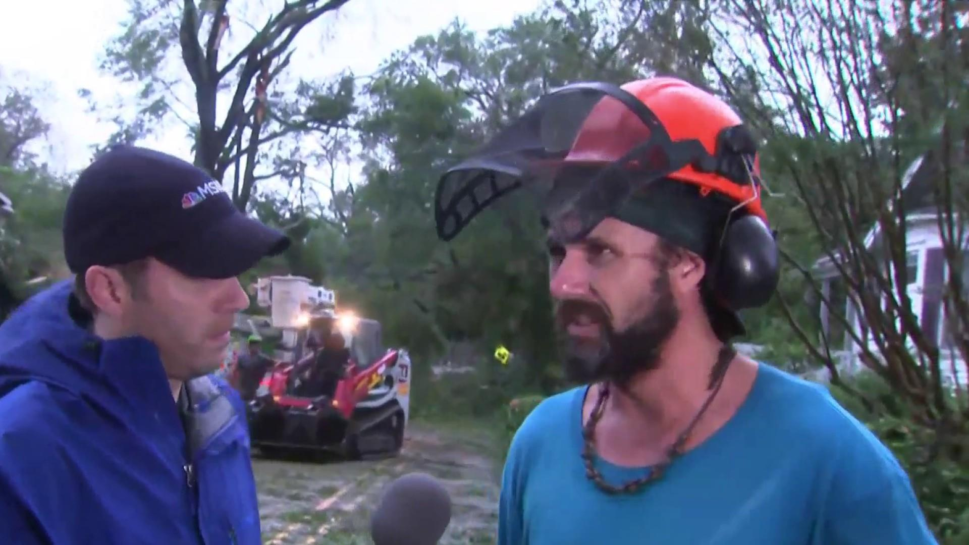 NC tree cutter on Florence: 'I can't wait for it to end'