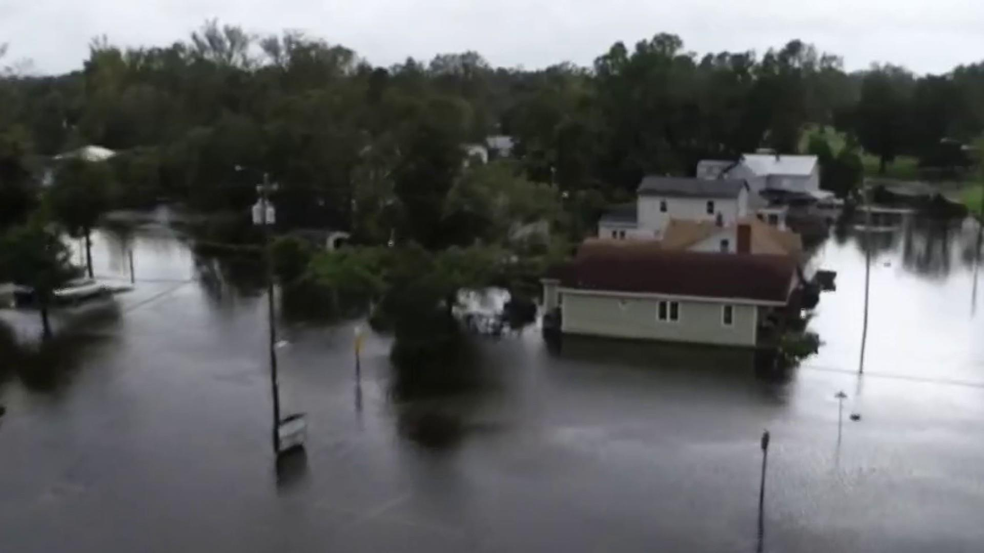 Roads turn into rivers as flooding continues in South Carolina