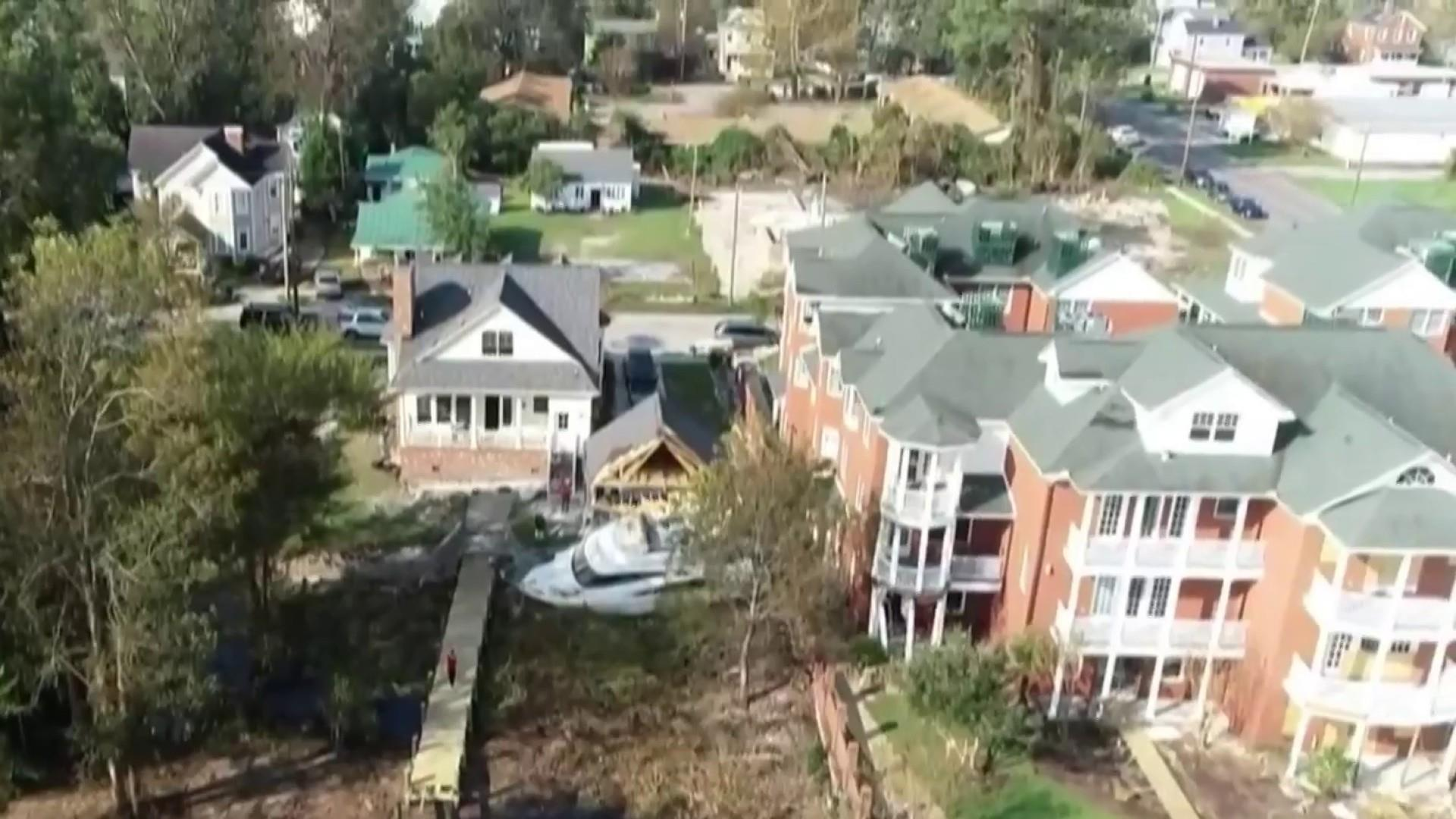 The damage after Hurricane Florence