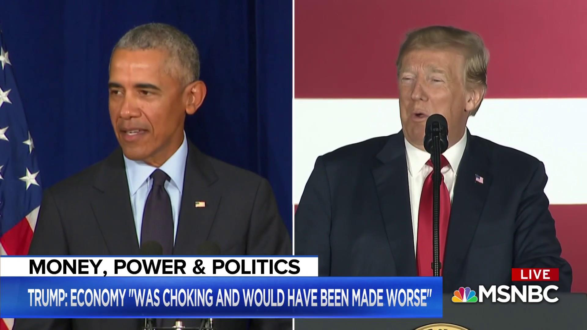 Trump vs. Obama: who gets credit for the booming economy?
