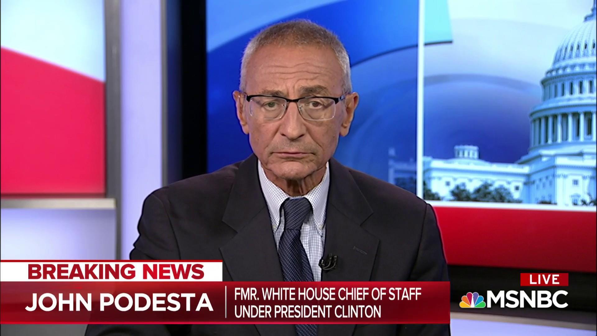 John Podesta on why John Kelly has not quit