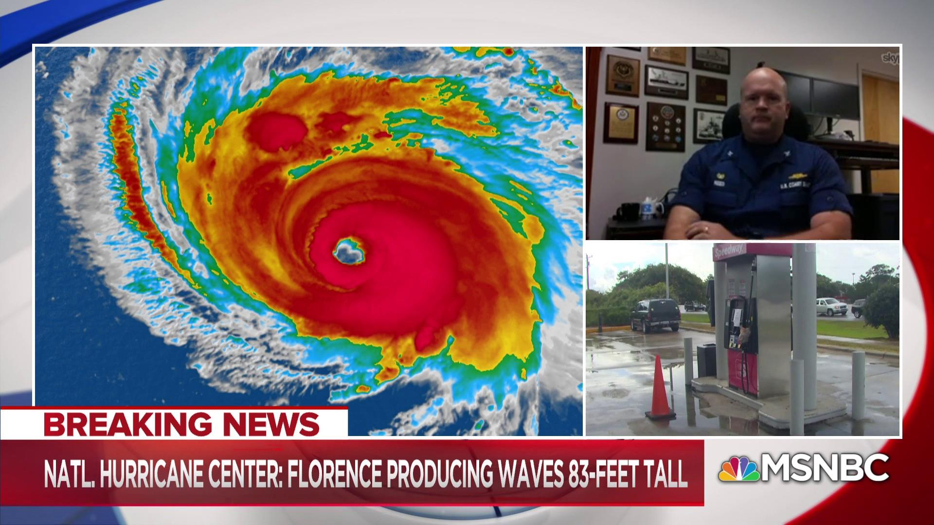 How is the Coast Guard helping with Hurricane Florence?