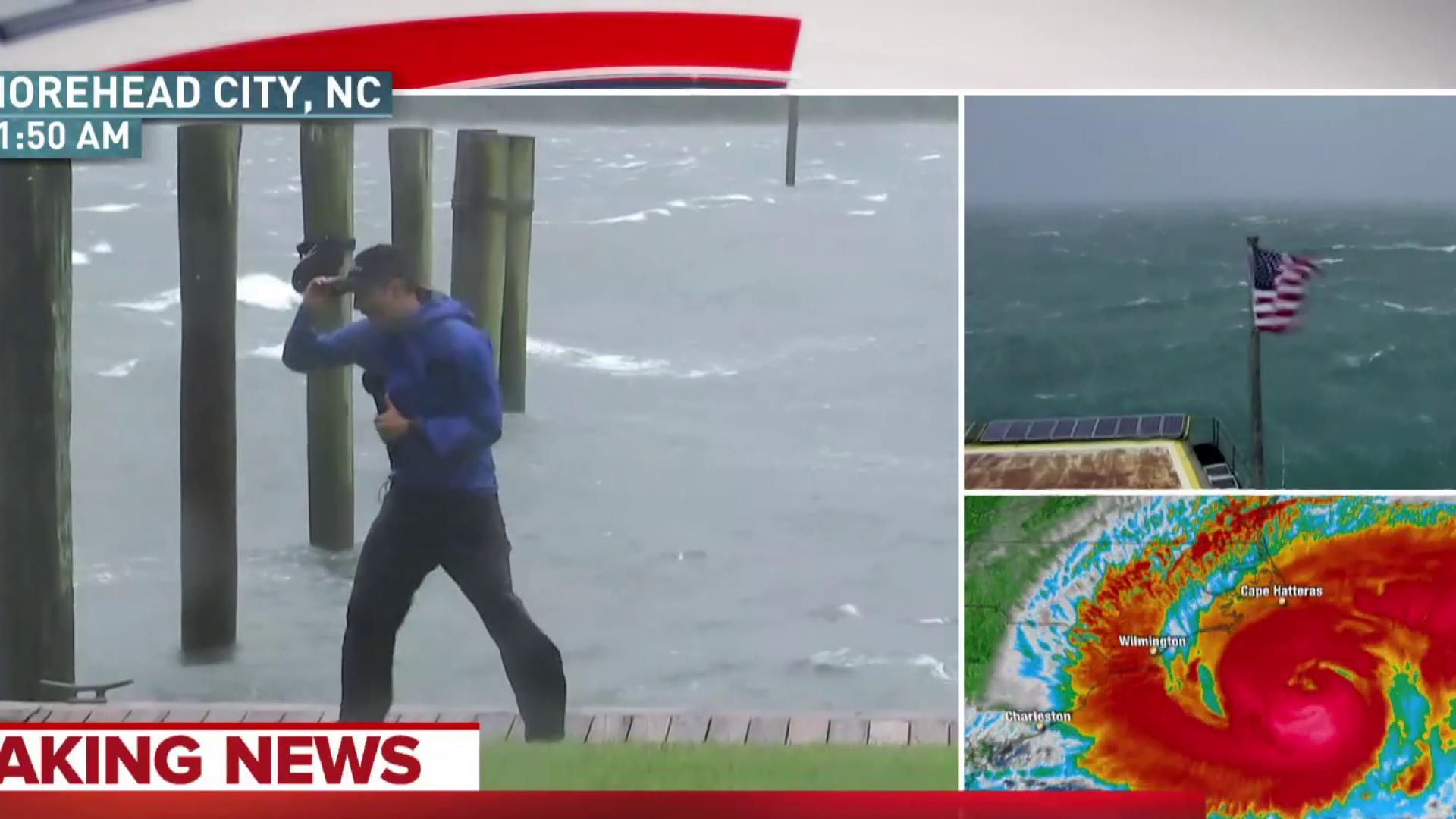 Hurricane Florence's effects felt in Morehead City, NC