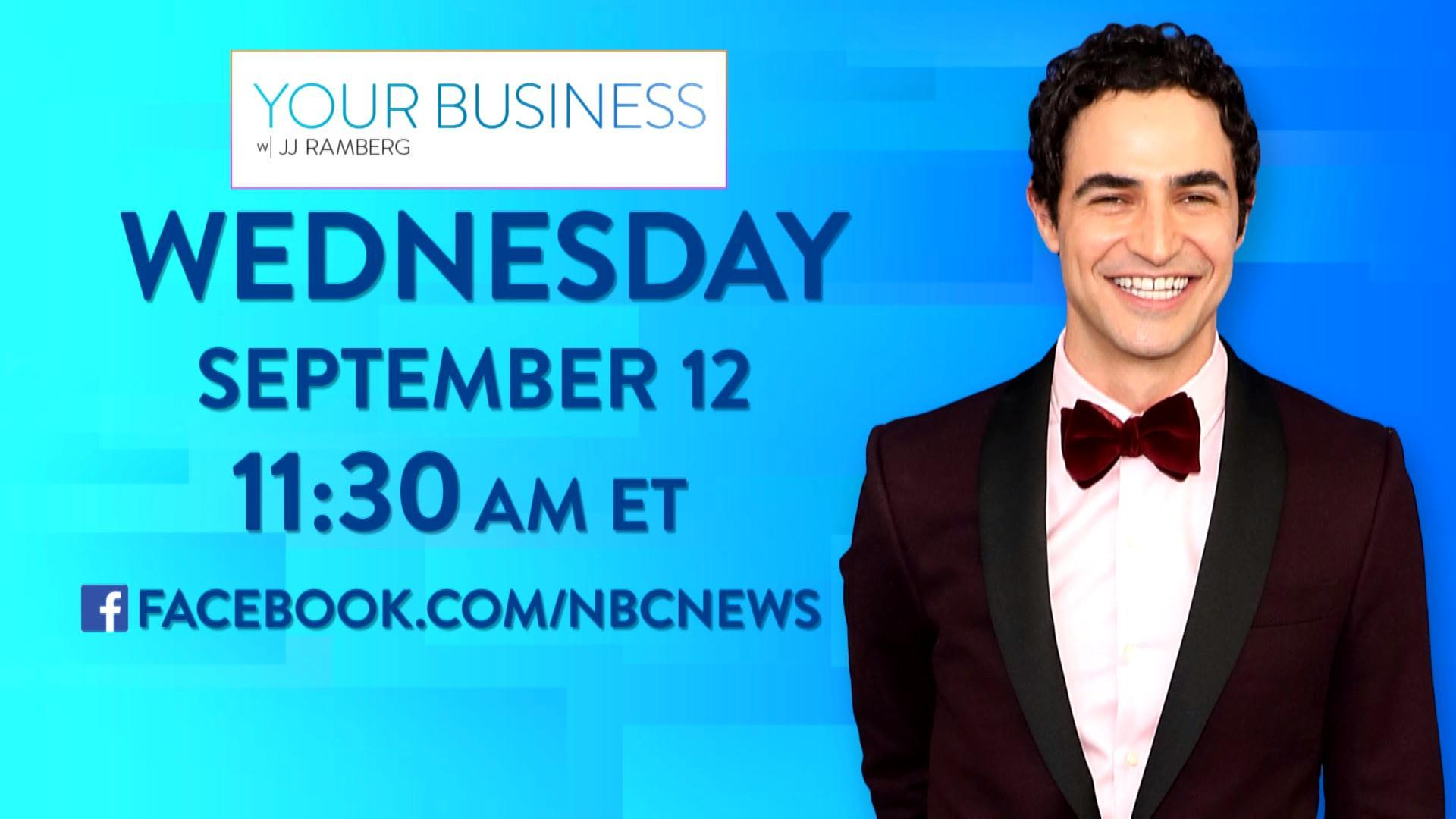 Walk the runway with Zac Posen on Facebook Live