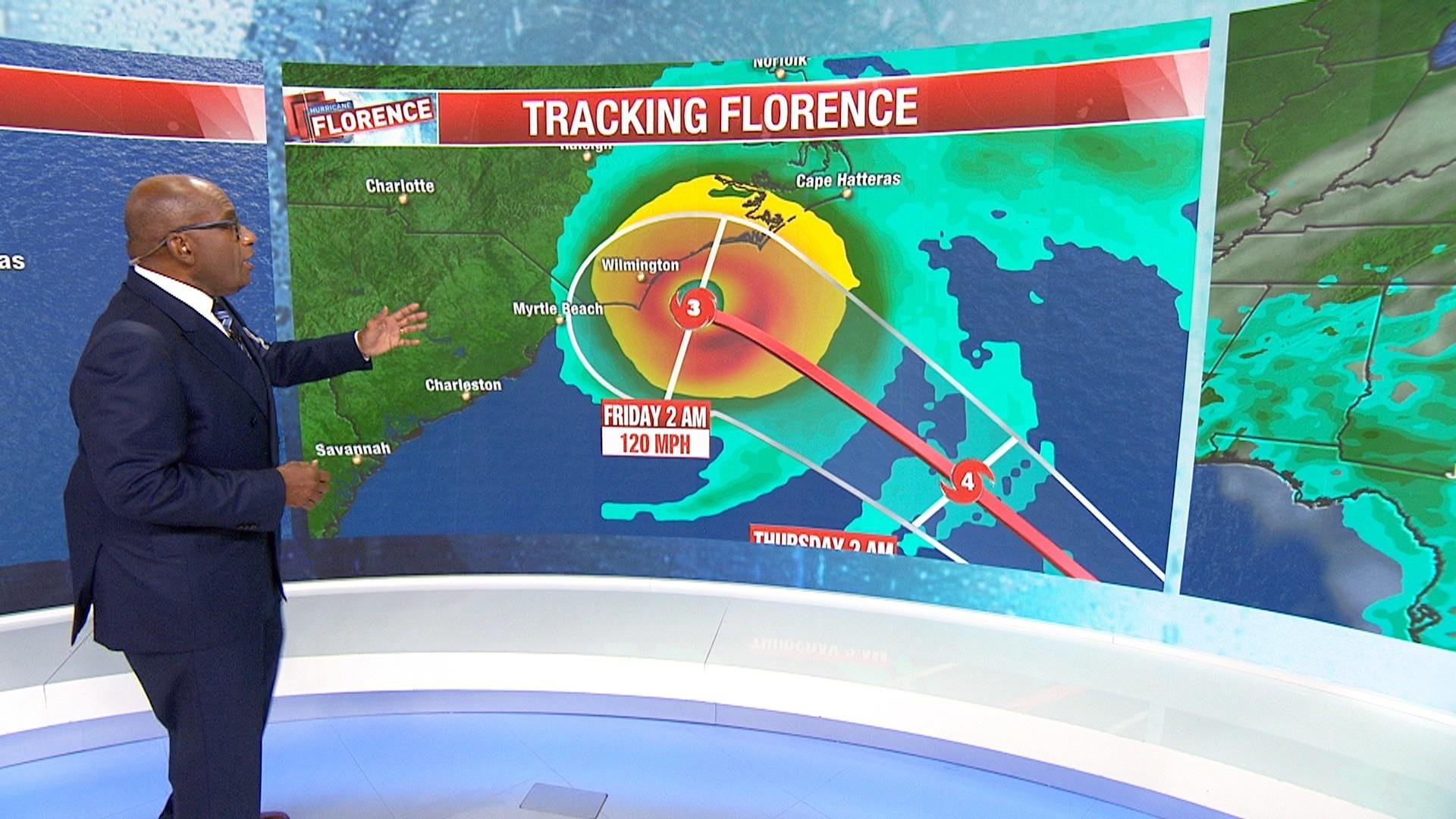 Tracking Hurricane Florence See Where The Storm Is Heading Nbc News