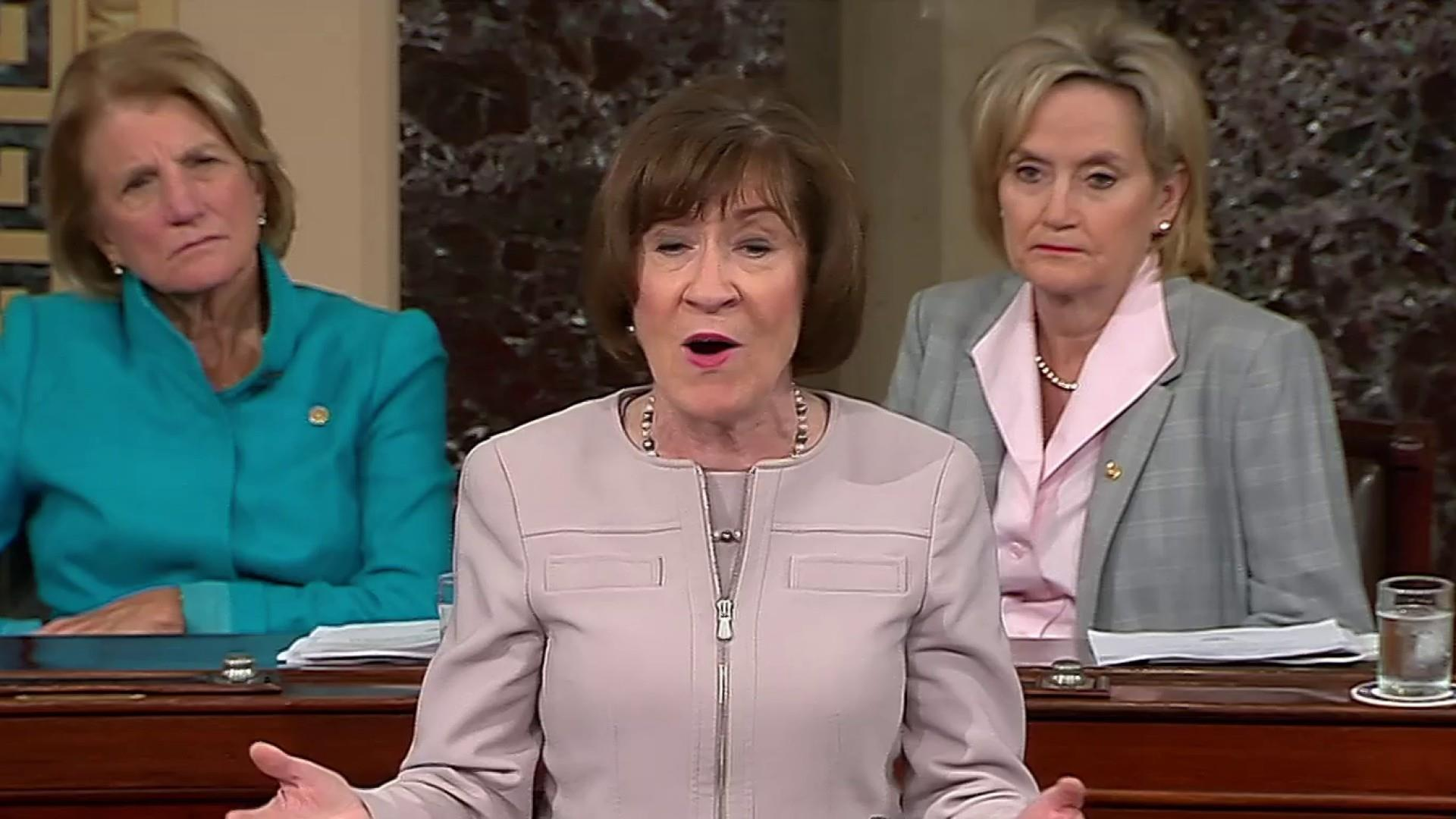 In defending Kavanaugh, Collins went further than Trump