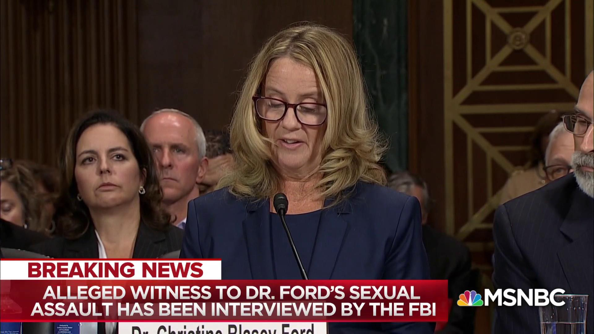 Key witness in Kavanaugh allegation interviewed by FBI