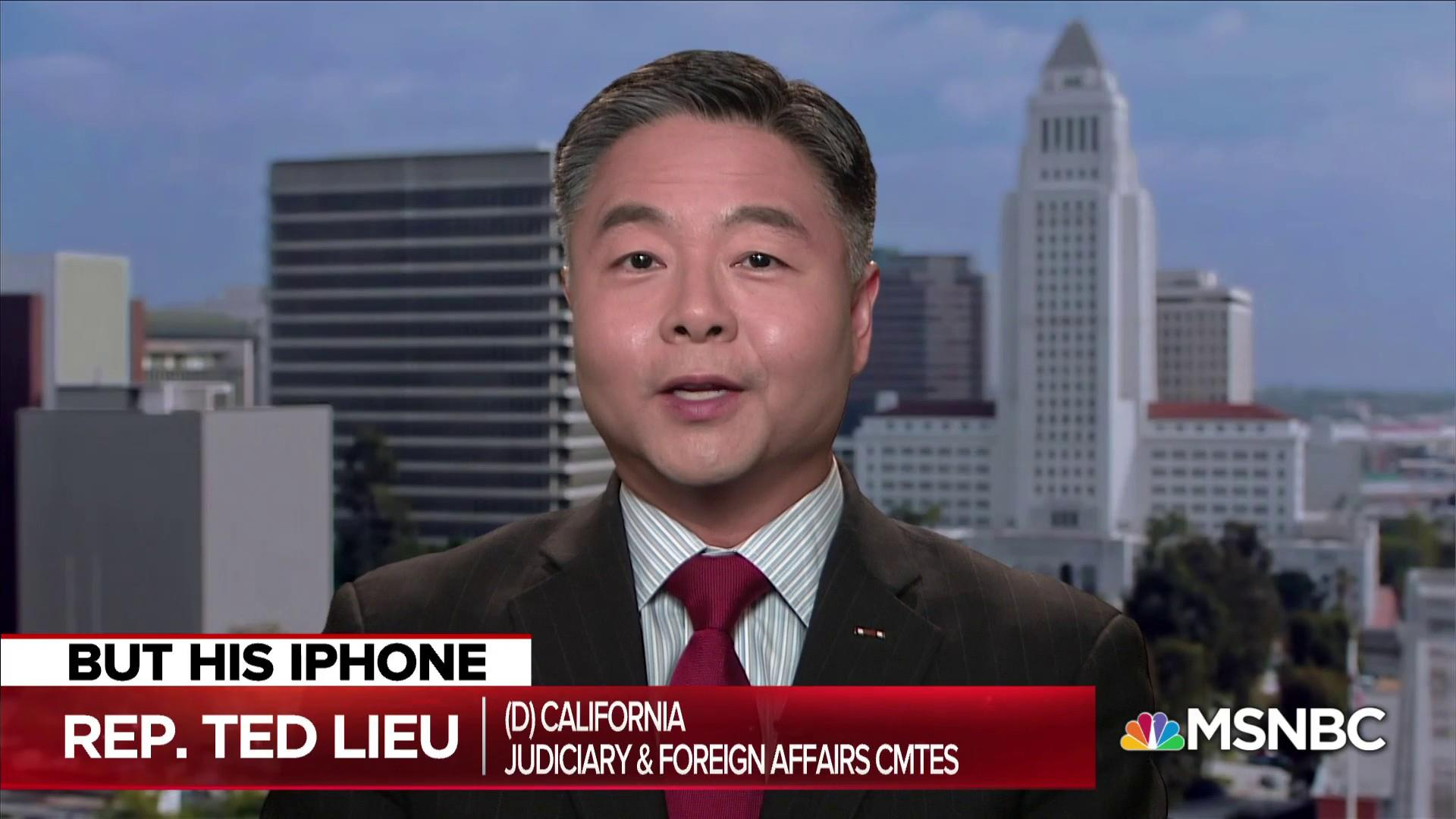 Congressman Lieu destroys Trump over email and iPhone hypocrisy