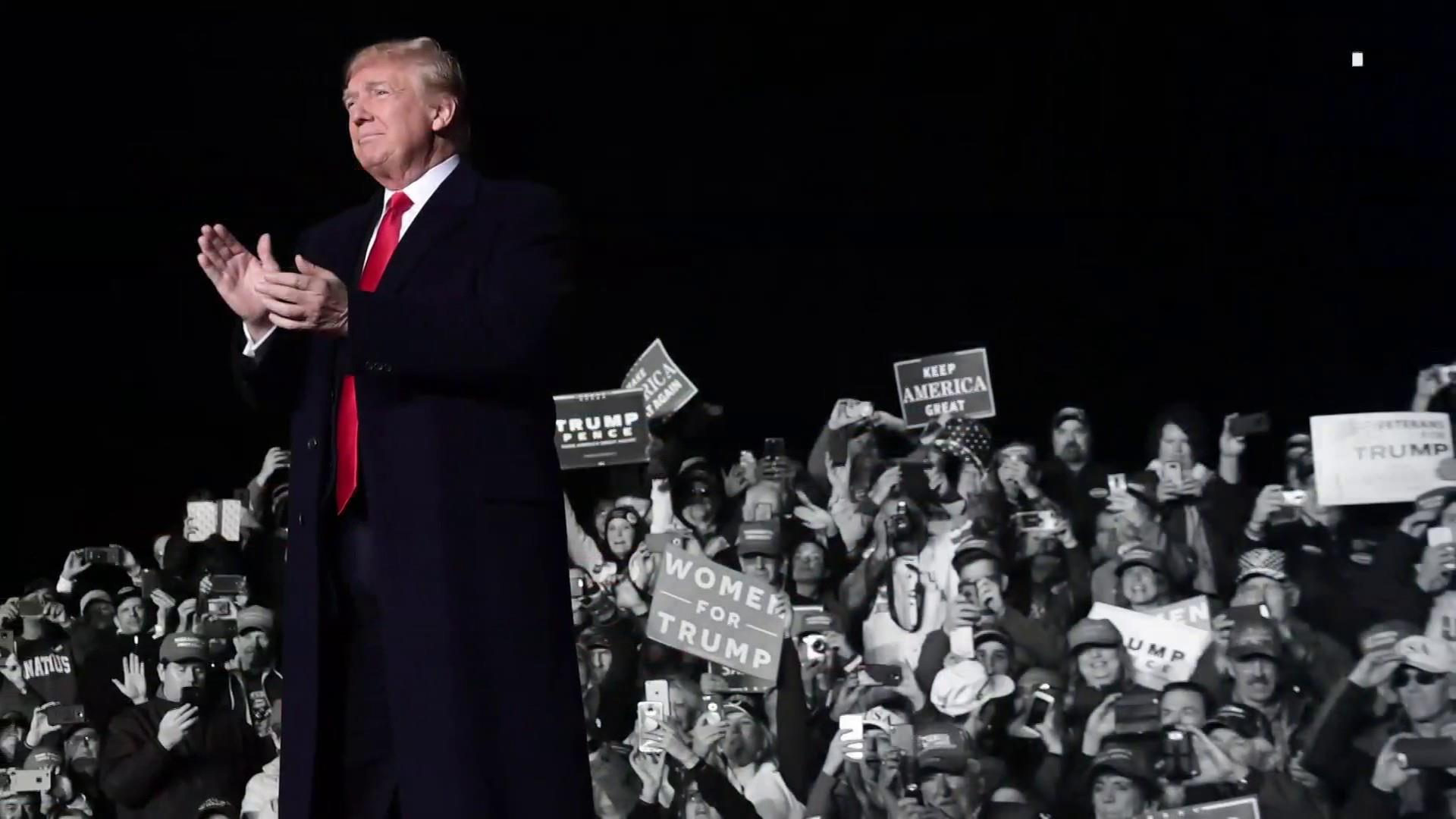 Trump holds rally after pipe bombs sent to Obamas, Clintons & CNN