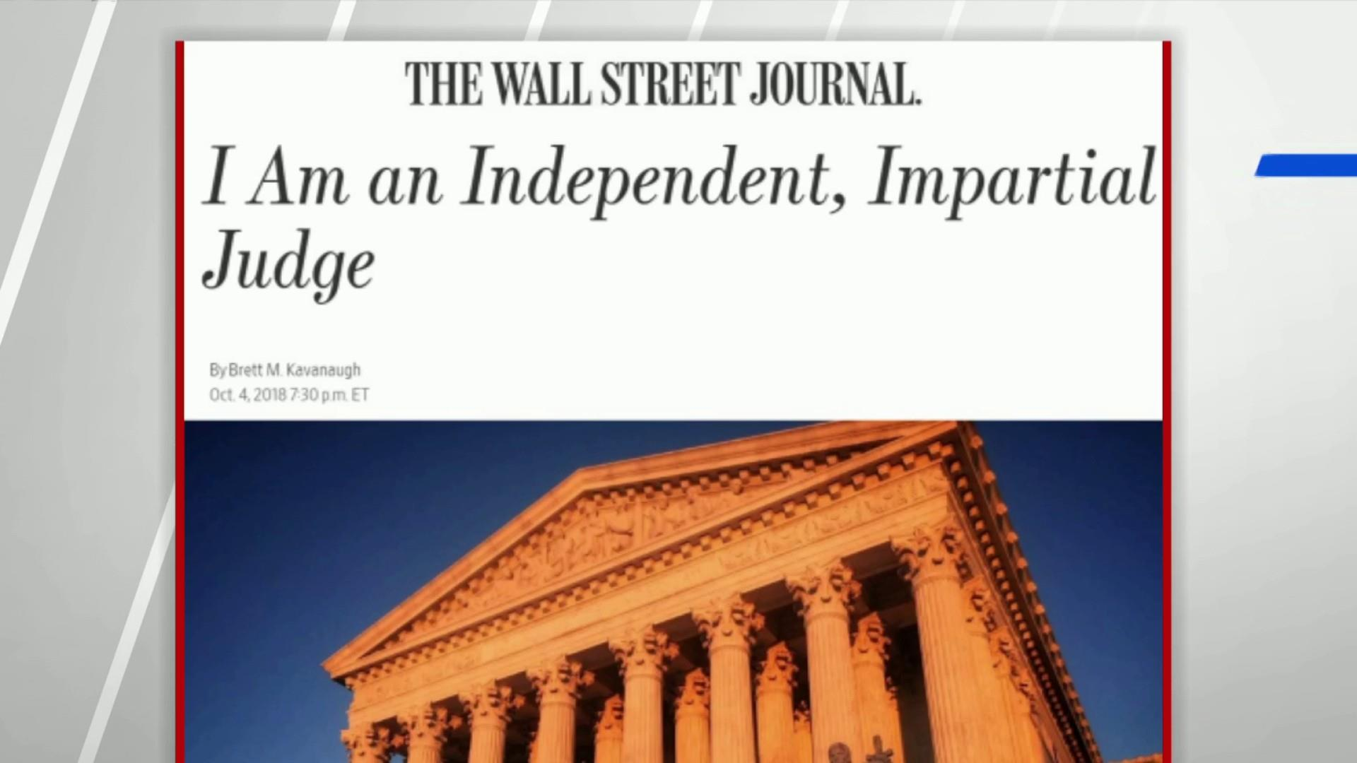 Kavanaugh in op-ed: I'm an independent, impartial judge
