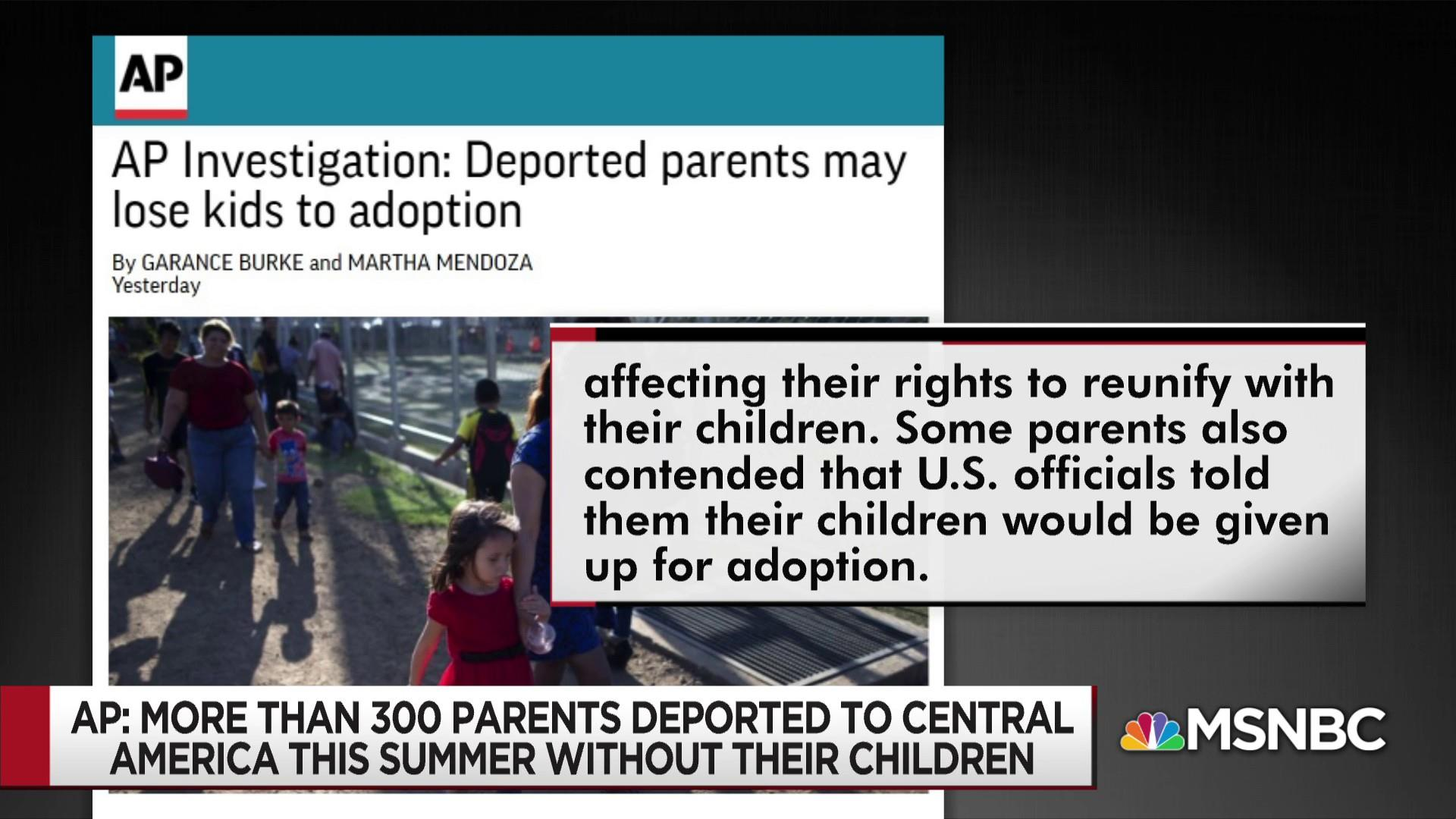 Deported parents may lose kids to adoption, investigation finds