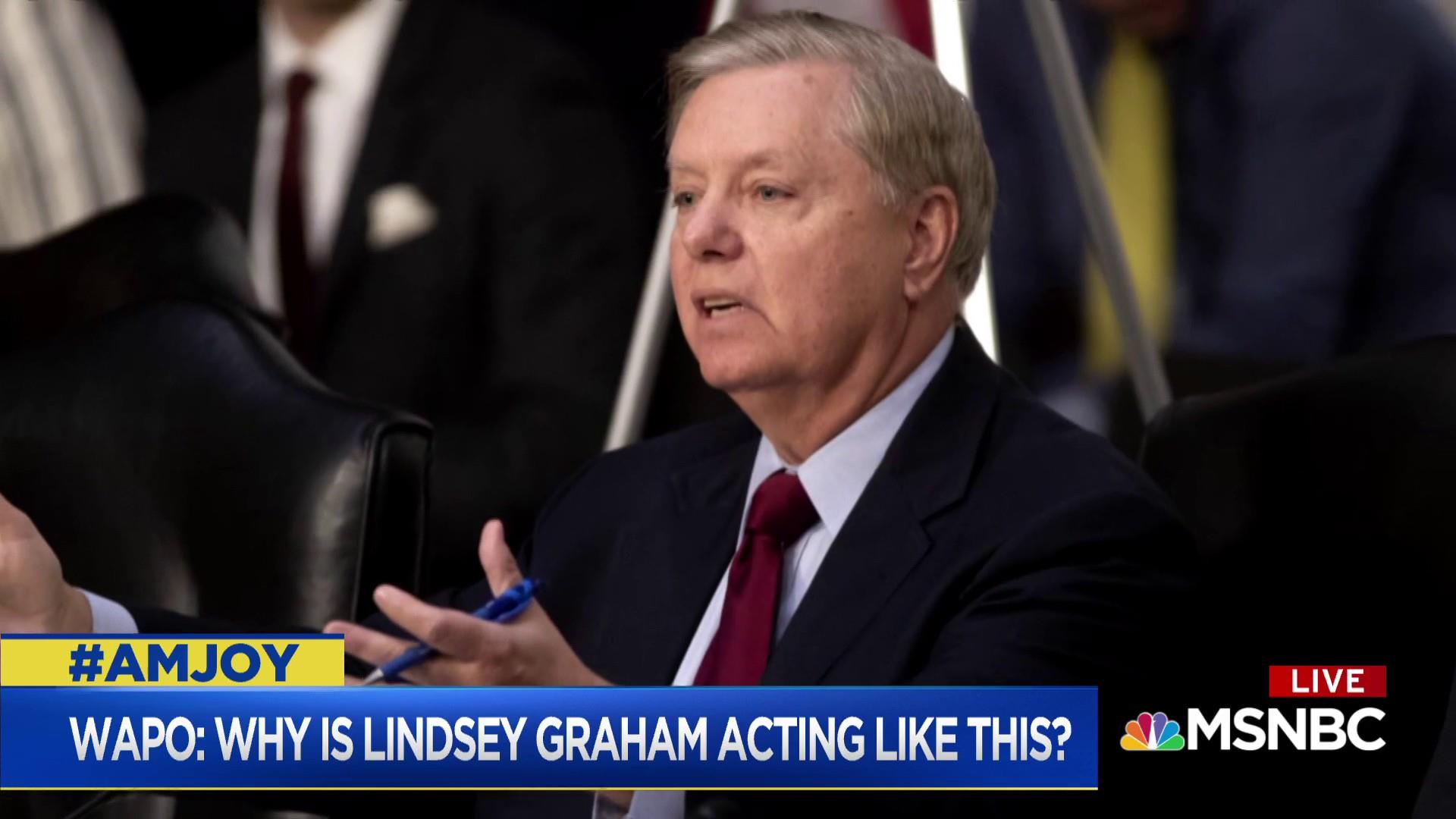 EJ Dionne: Graham's behavior looks crazy but doesn't hurt him with GOP party