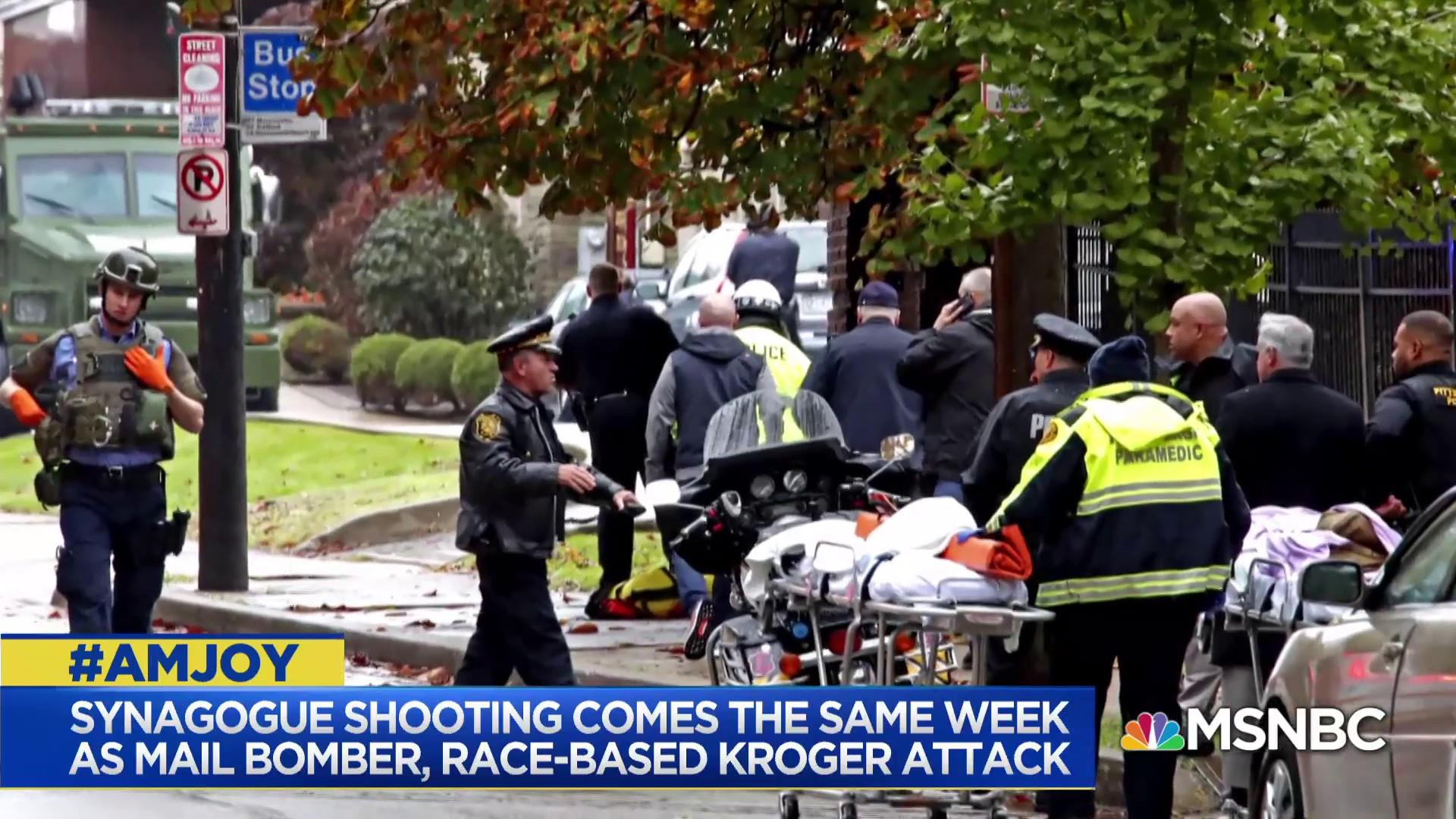 Synagogue shooting comes same week as mail bomber, race-based Kroger attacks