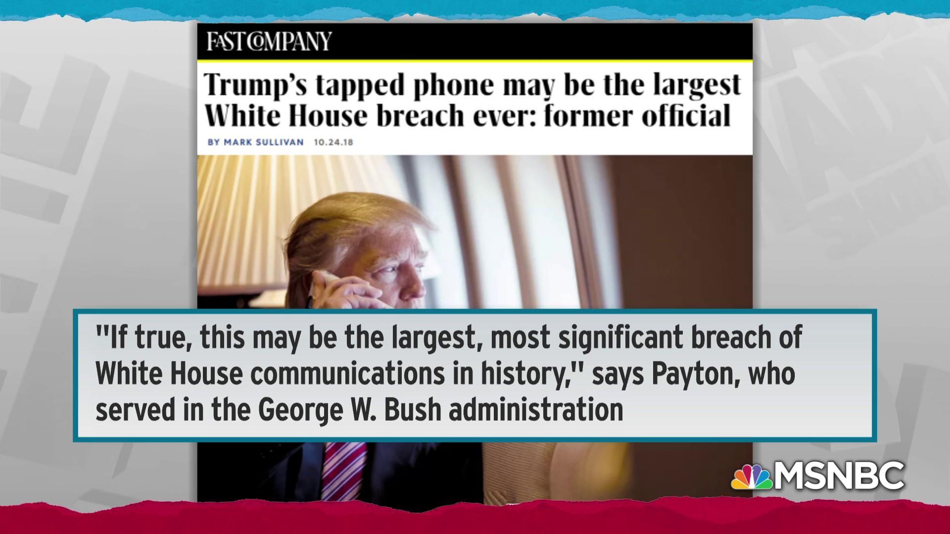 Trump sharing sensitive info on insecure phone worries U.S. intel