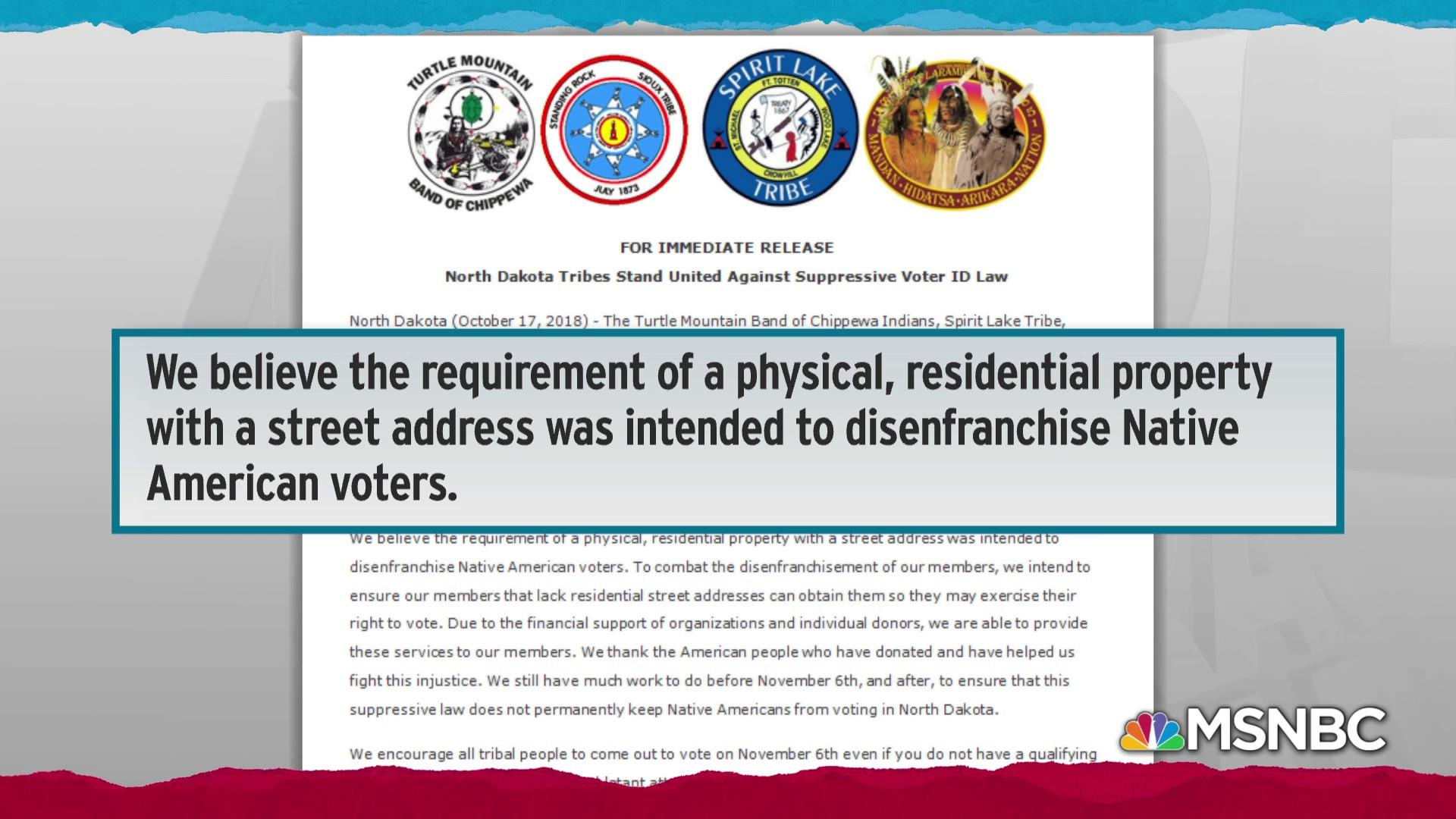 Native Americans stand up to targeting by Republican voter ID law