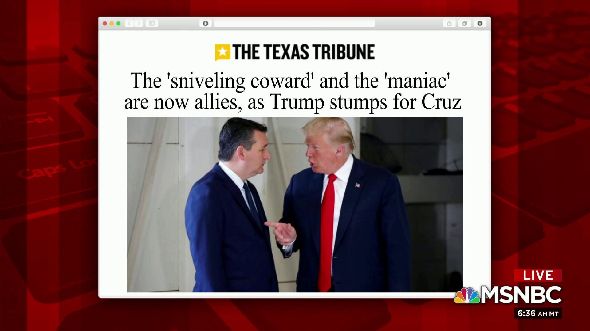 Trump stumps for Cruz; evangelical women look to O'Rourke