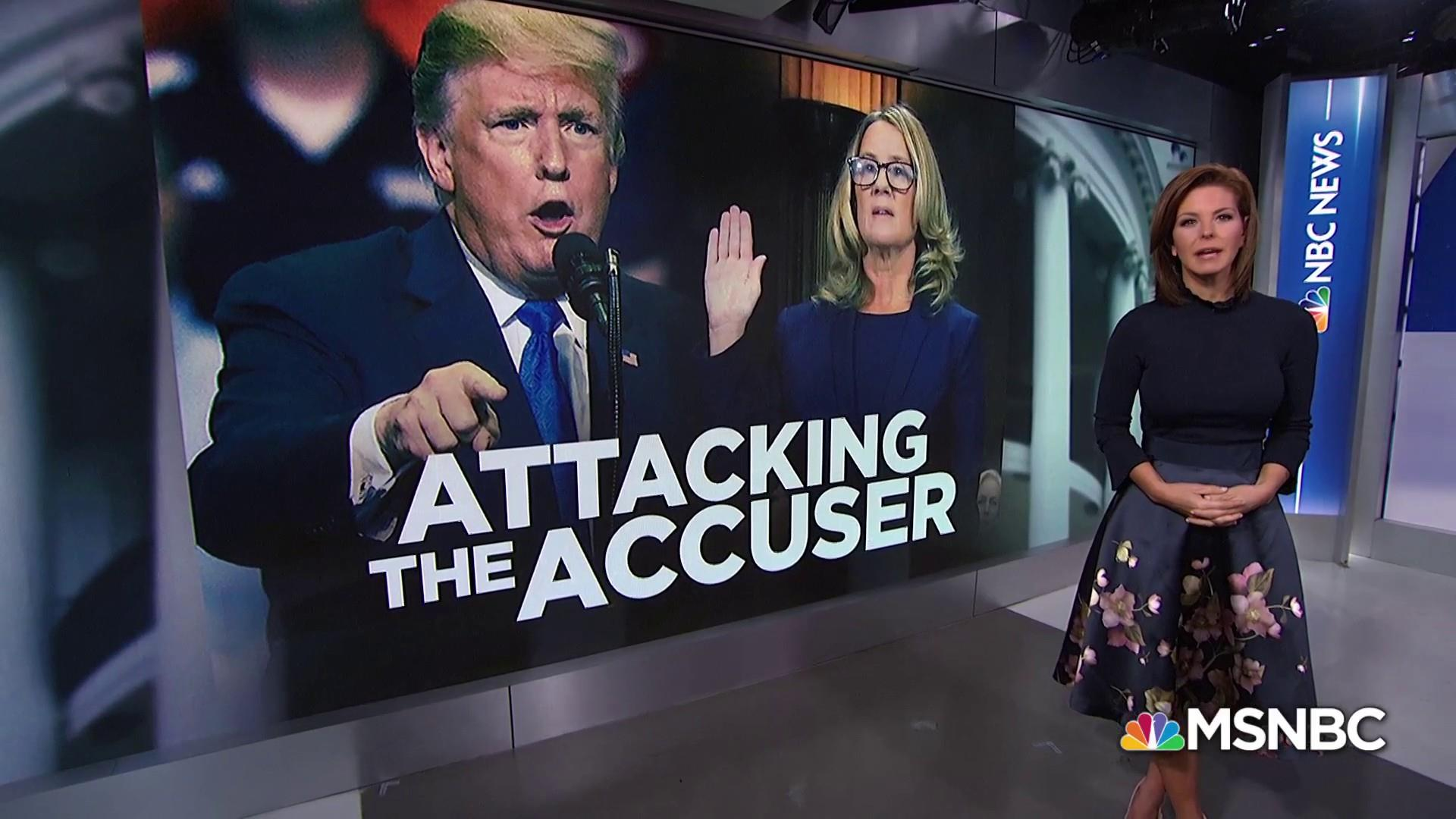President Trump publicly attacks Dr. Christine Blasey Ford