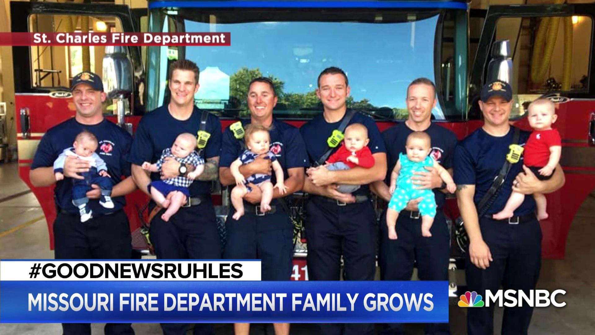 #GoodNewsRUHLES: 6 Firefighters from same shift all welcome babies