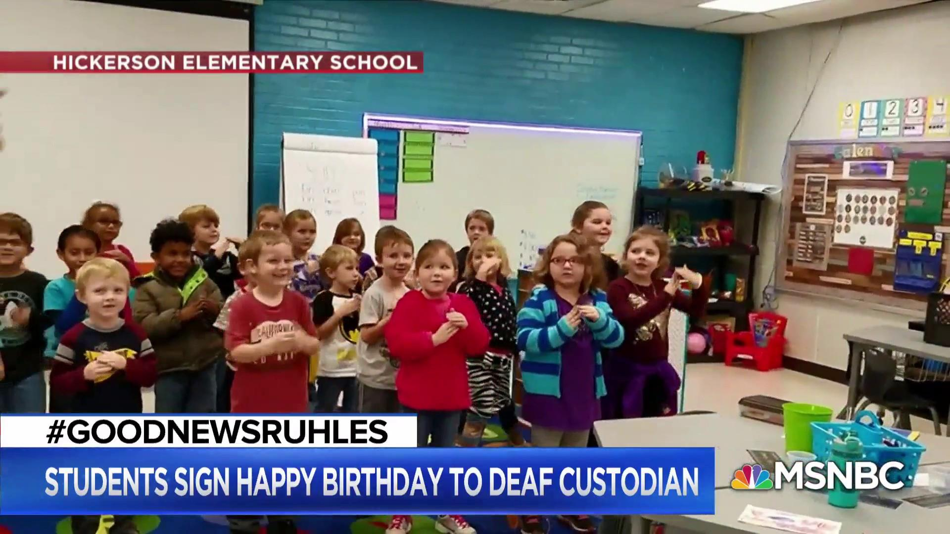 #GoodNewsRuhles: Students sing 'Happy Birthday' in sign language